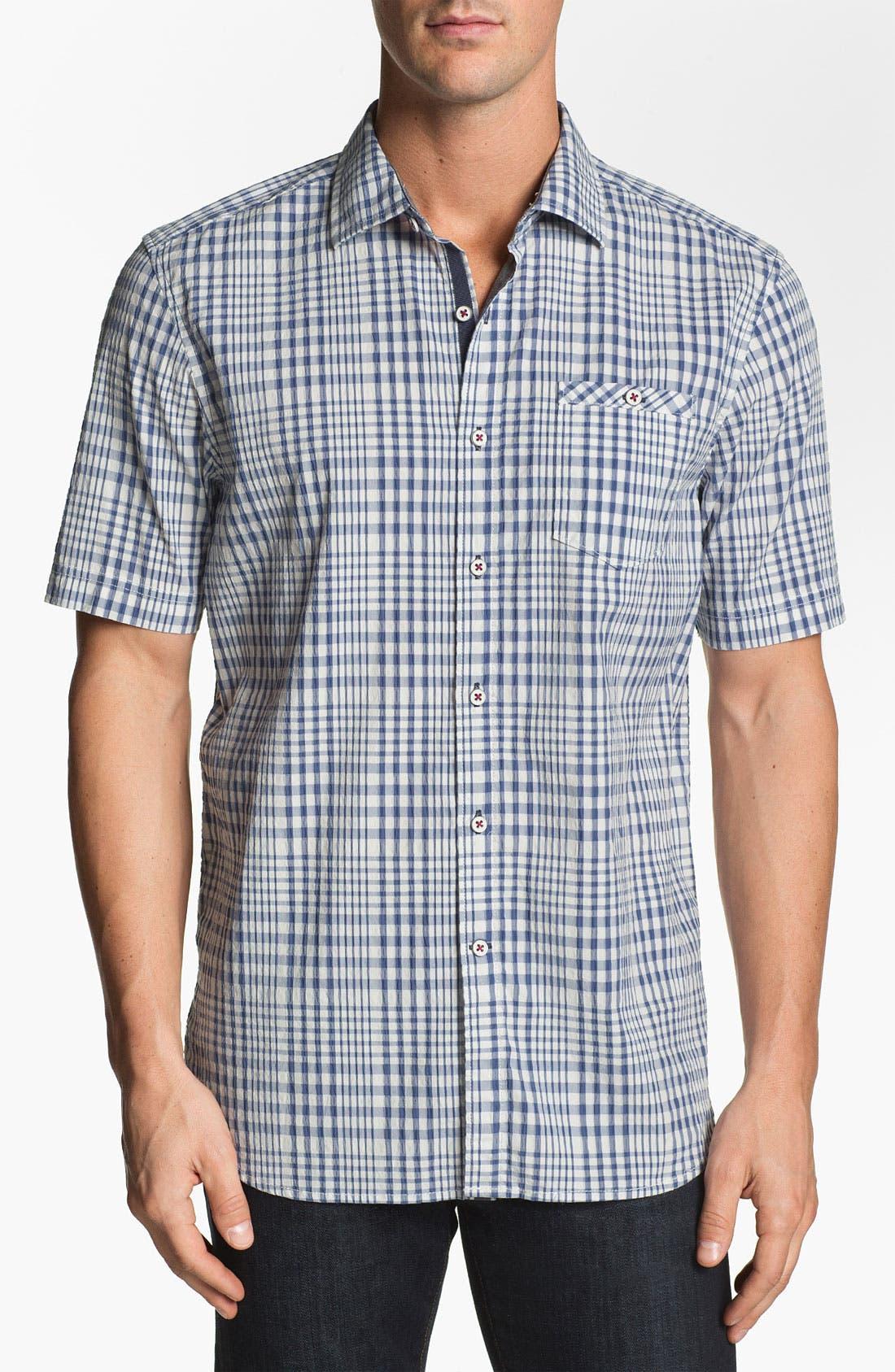 Main Image - Tommy Bahama Denim 'Paradise Heights' Short Sleeve Sport Shirt