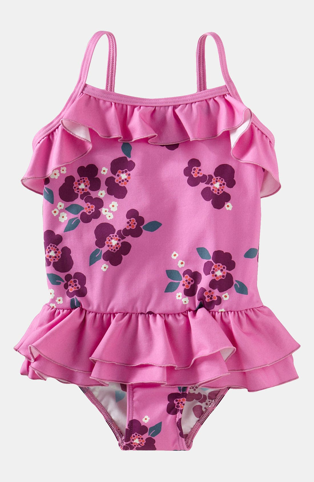 Main Image - Tea Collection Ruffle Swimsuit (Toddler)