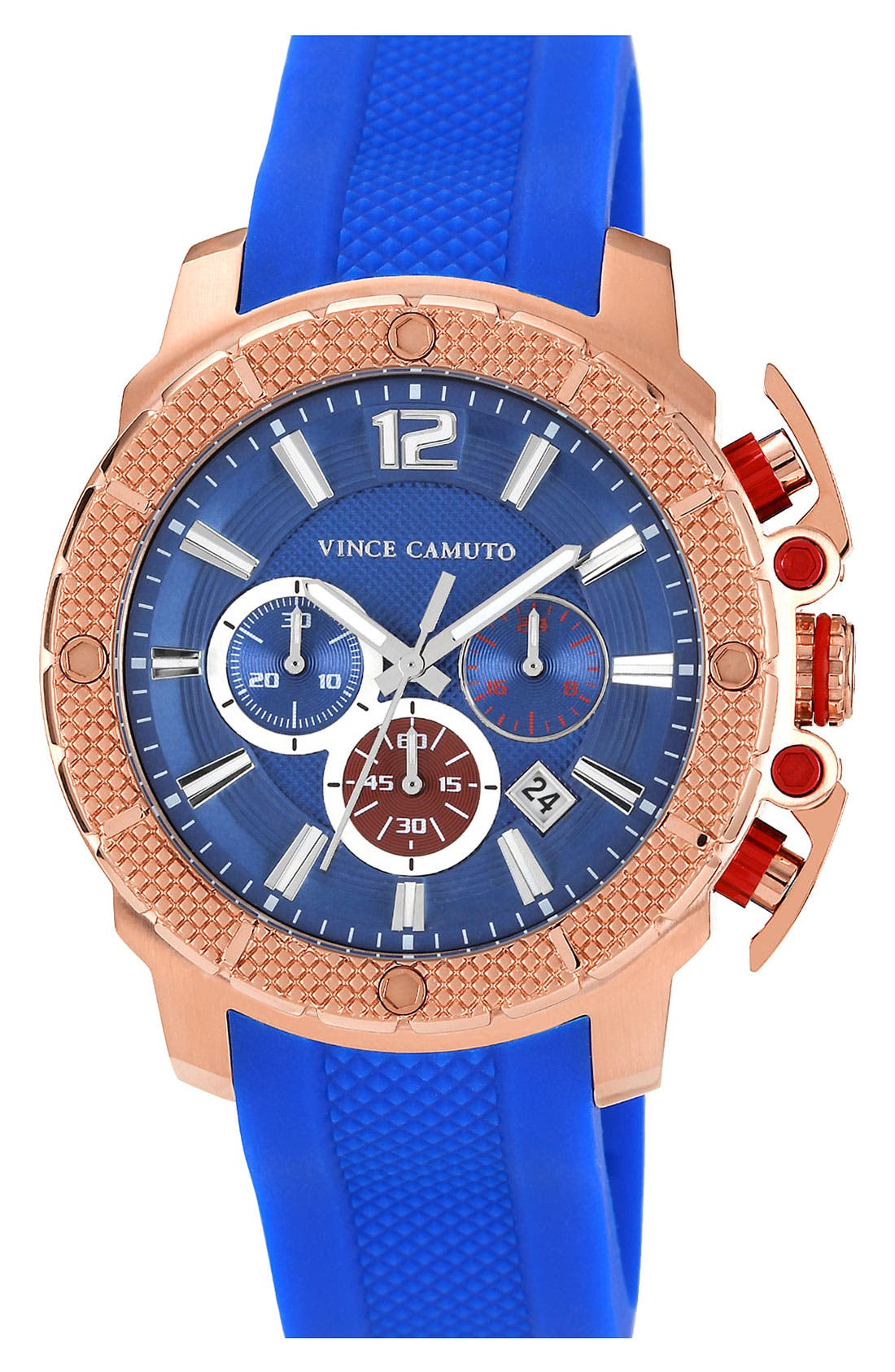 Main Image - Vince Camuto 'Striker' Chronograph Silicone Strap Watch, 45mm