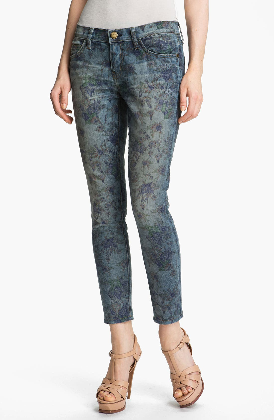 Alternate Image 1 Selected - Current/Elliott 'The Stiletto' Burnout Floral Print Stretch Jeans