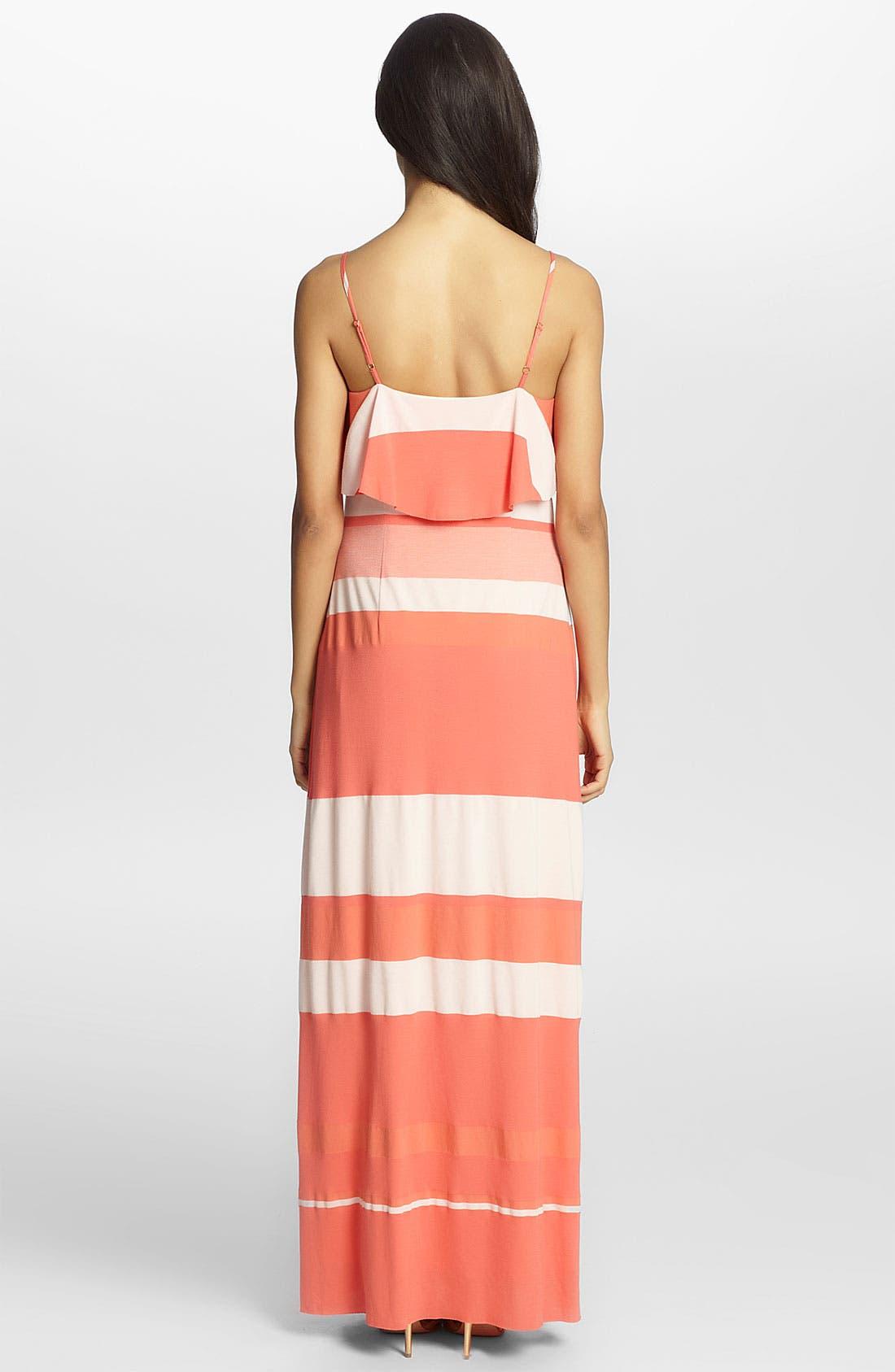 Alternate Image 2  - Cynthia Steffe 'Bailey' Ruffled Stripe Maxi Dress
