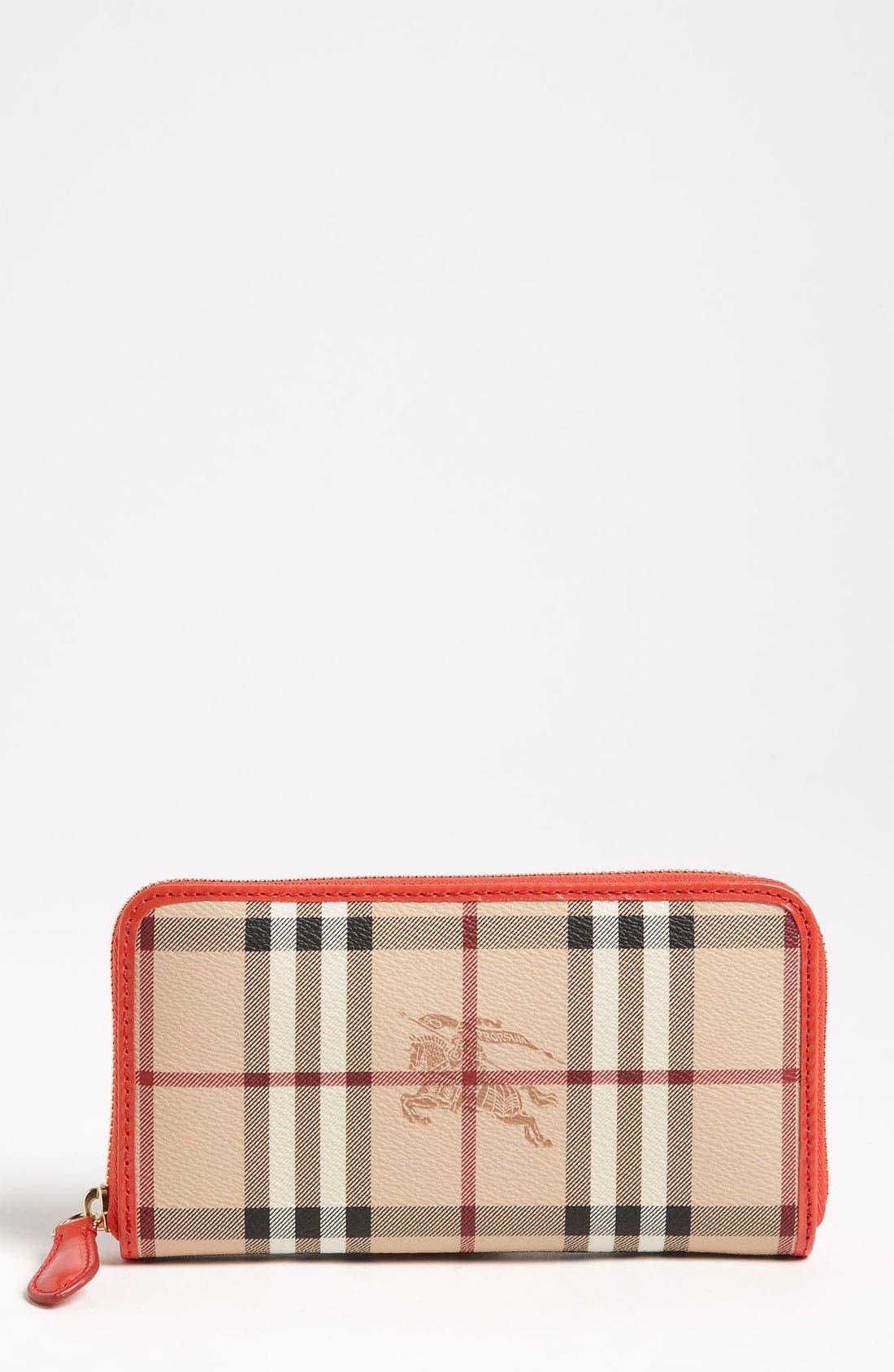 Alternate Image 1 Selected - Burberry 'Haymarket Check' Zip Around Wallet