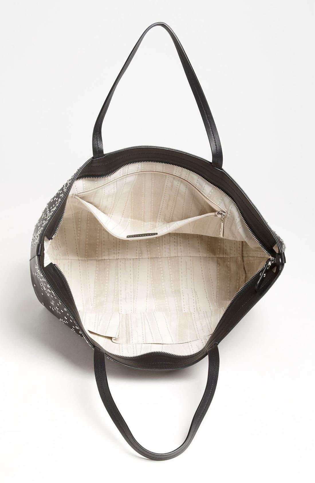 Alternate Image 3  - Salvatore Ferragamo 'Bice - Studded' Leather Tote