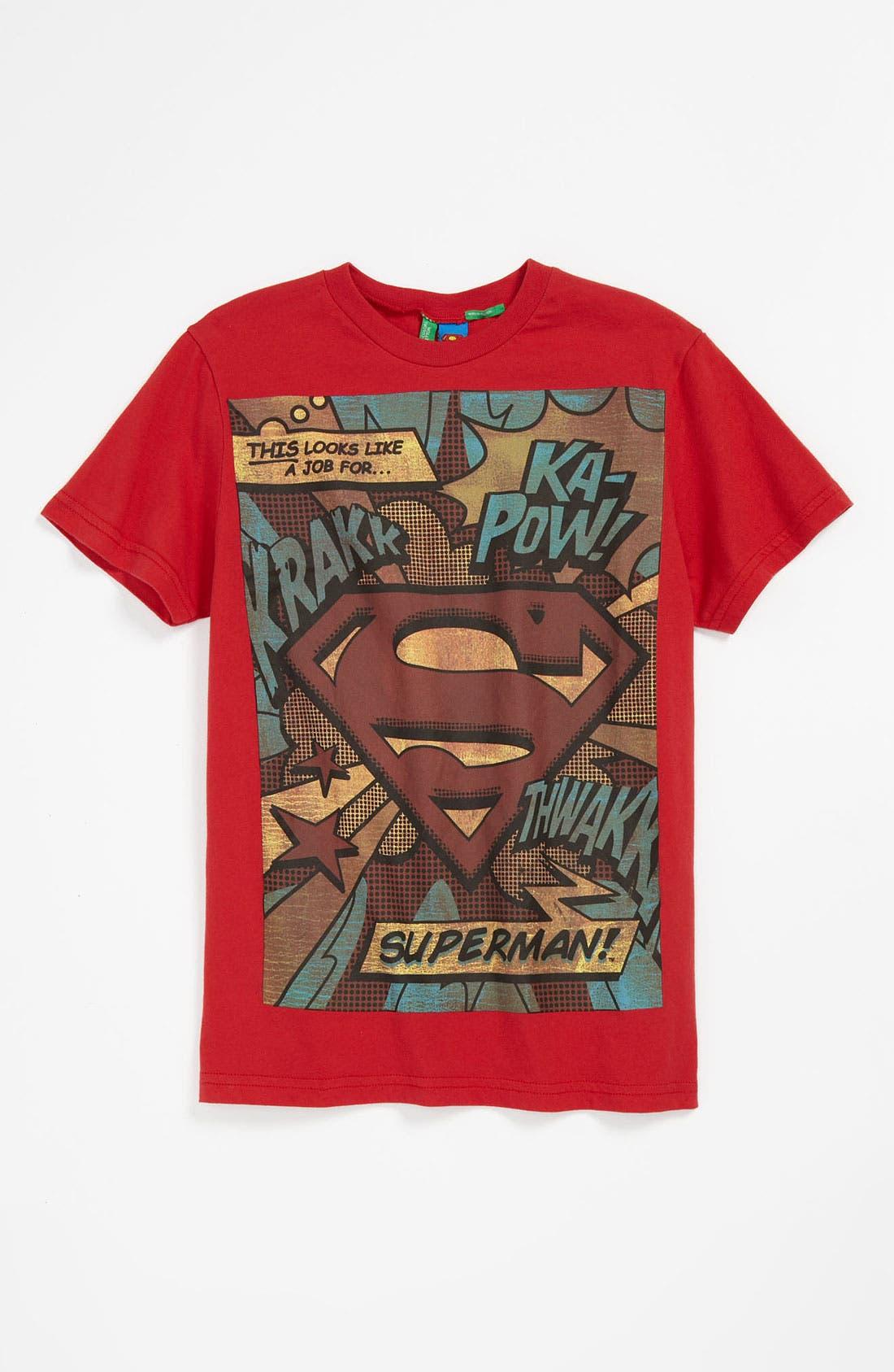 Alternate Image 1 Selected - United Colors of Benetton Kids 'Comic Book' T-Shirt (Big Boys)