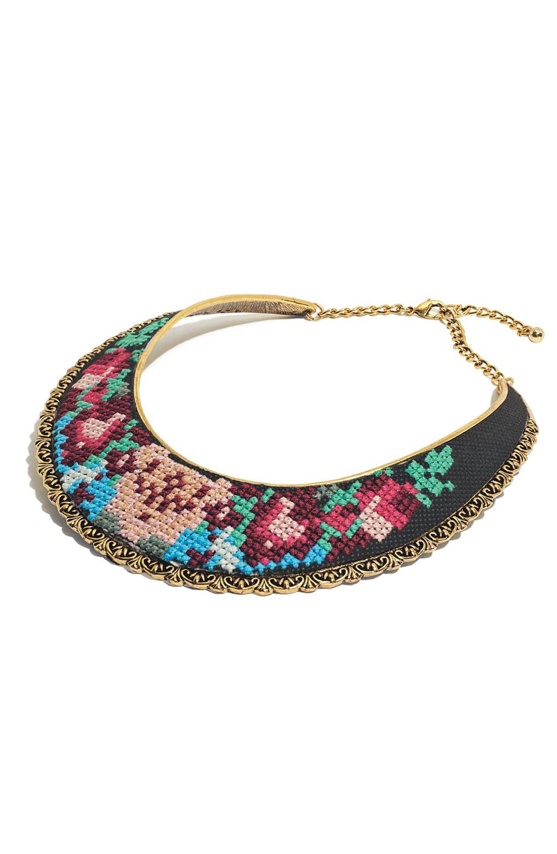 Alternate Image 2  - Spring Street Embroidered Bib Necklace