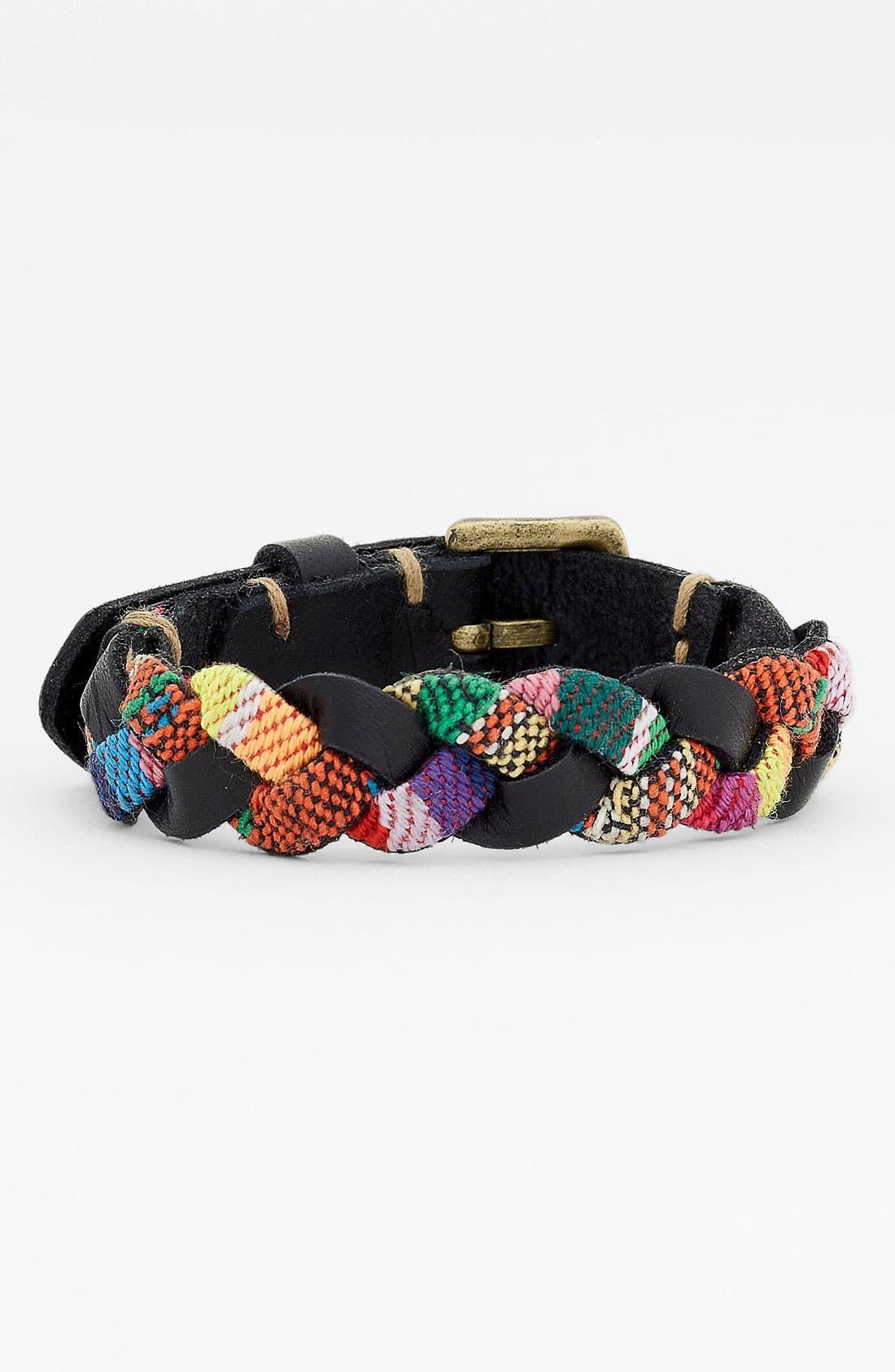 Alternate Image 1 Selected - Cara Mixed Media Braided Bracelet