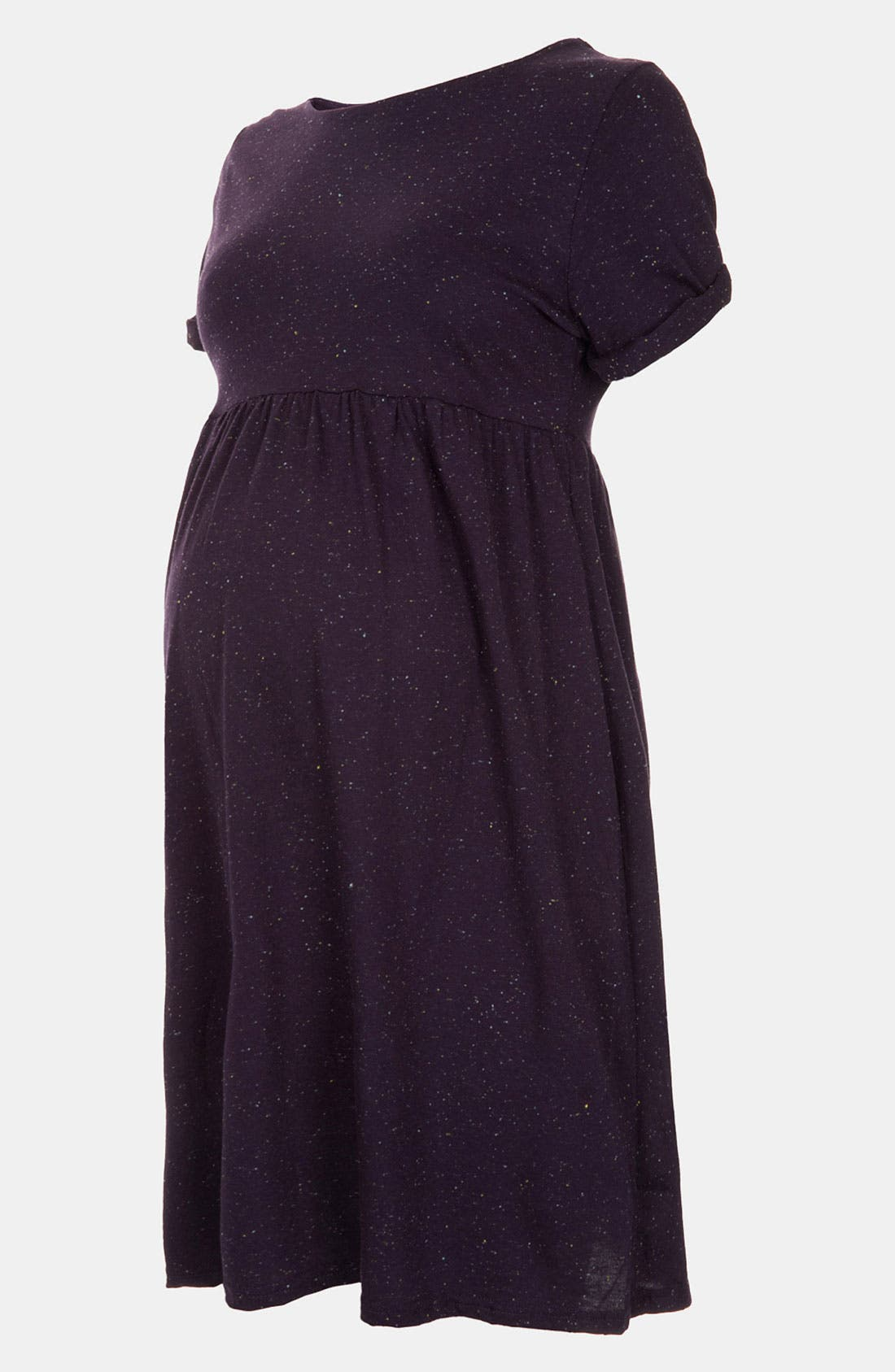 Main Image - Topshop Roll Sleeve Knit Maternity Dress