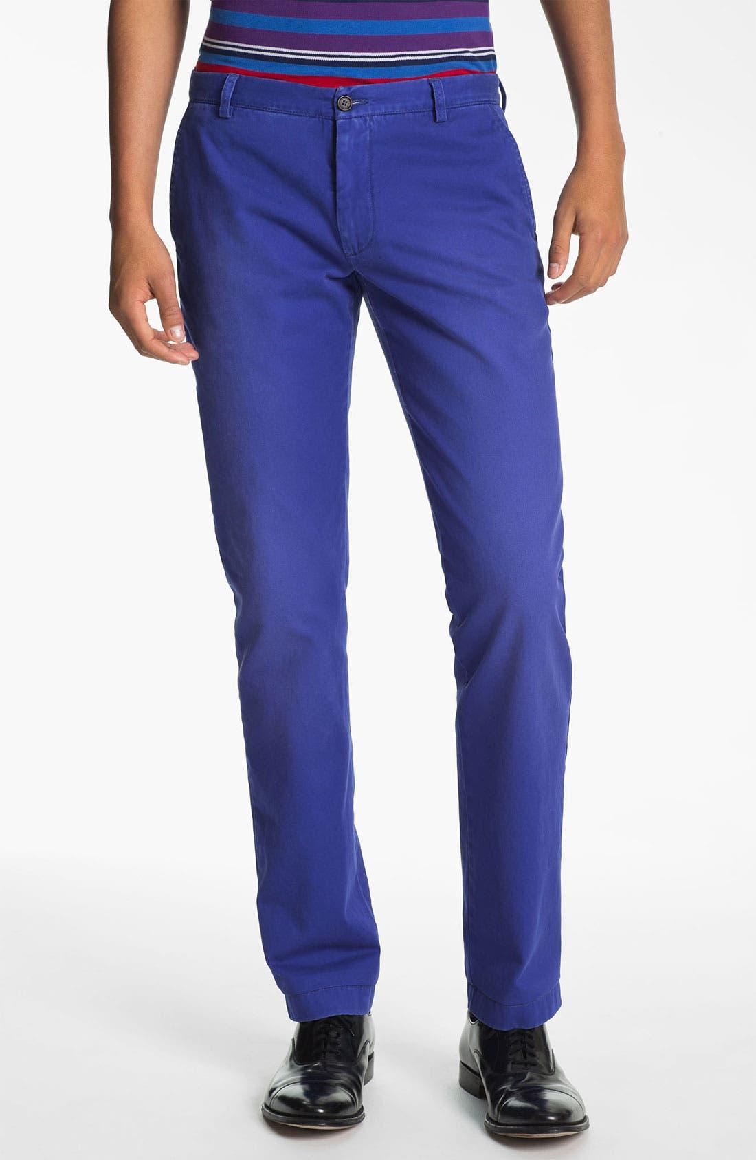 Alternate Image 1 Selected - Etro 'Cuba Sabbiato' Slim Fit Pants