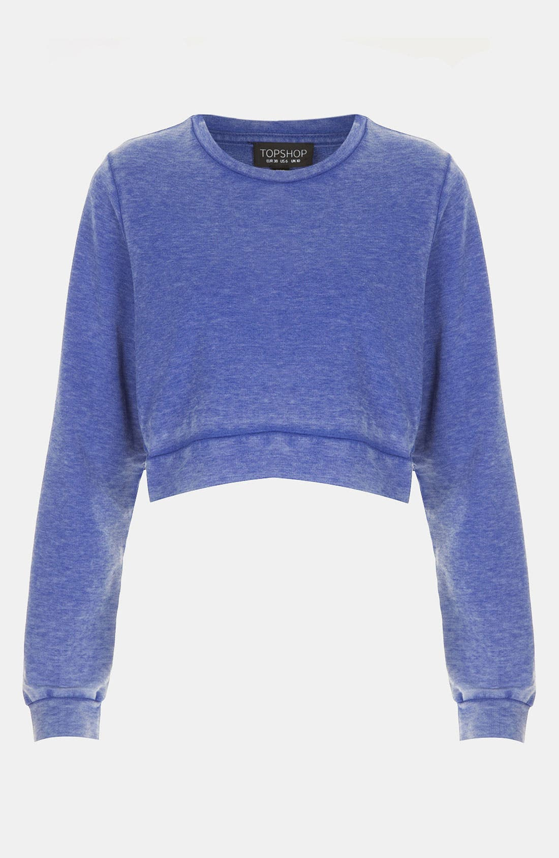 Alternate Image 1 Selected - Topshop Crop Sweatshirt