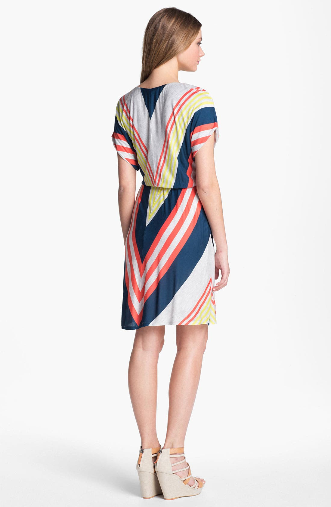 Alternate Image 2  - Felicity & Coco V-Neck Chevron Stripe Jersey Dress (Nordstrom Exclusive)