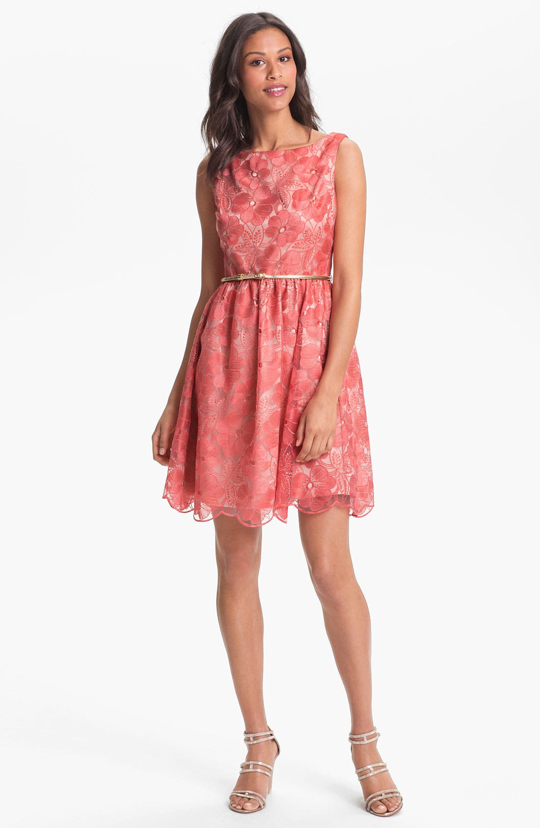 Main Image - Eliza J Embroidered Fit & Flare Dress