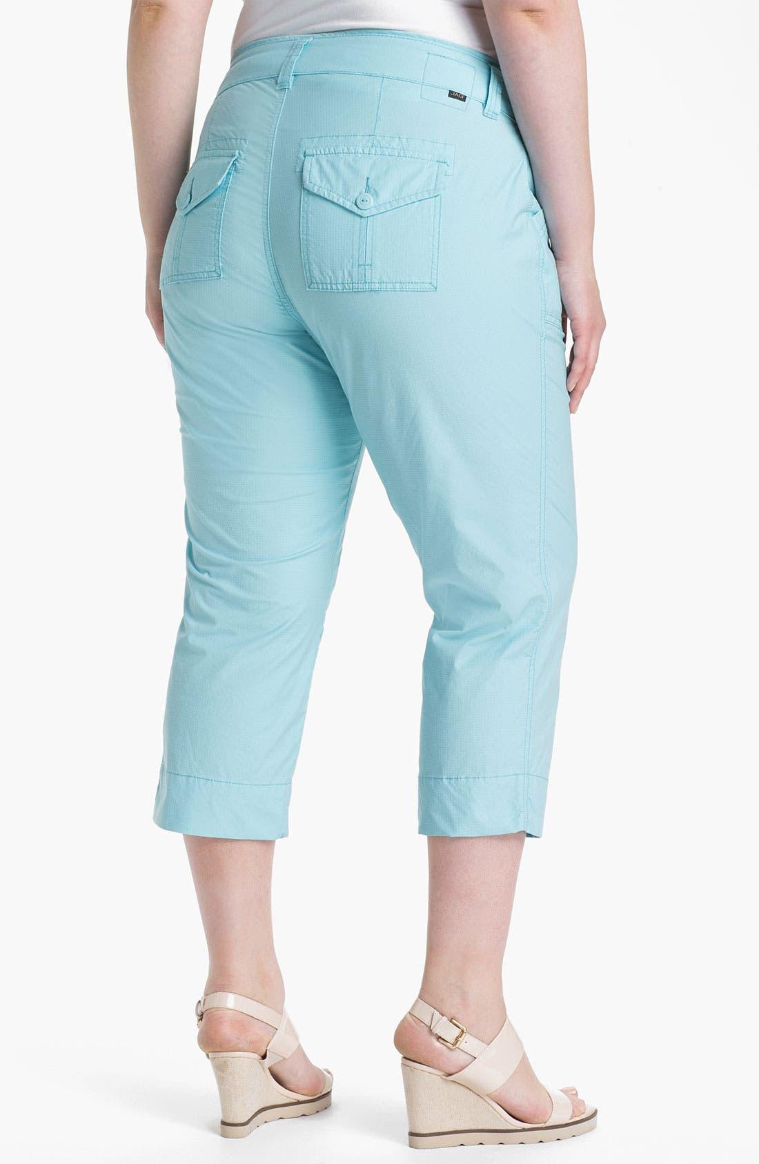 Alternate Image 2  - Jag Jeans 'Ennis' Crop Ripstop Pants (Plus Size)