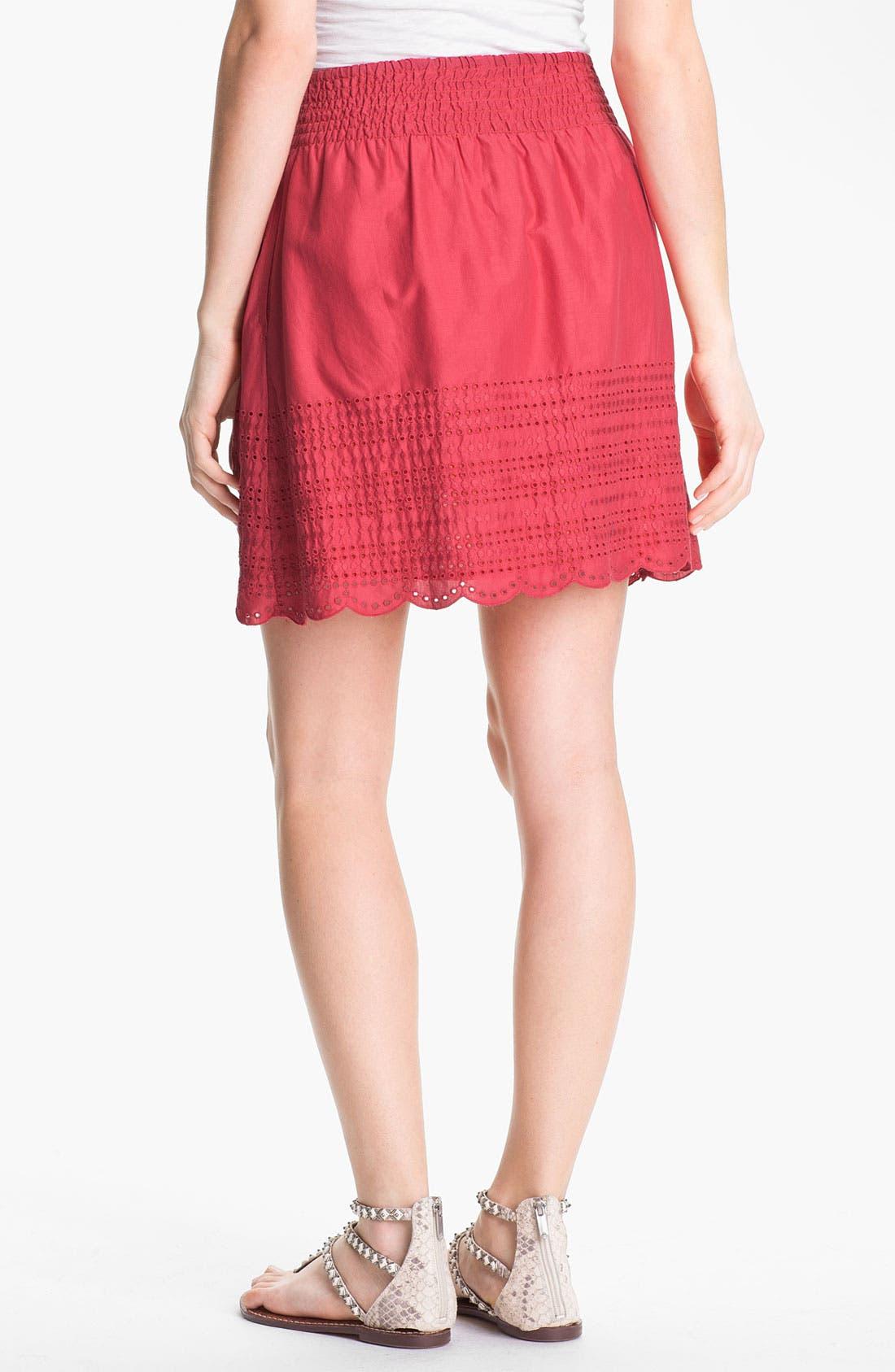 Alternate Image 2  - Caslon Eyelet Cotton Skirt