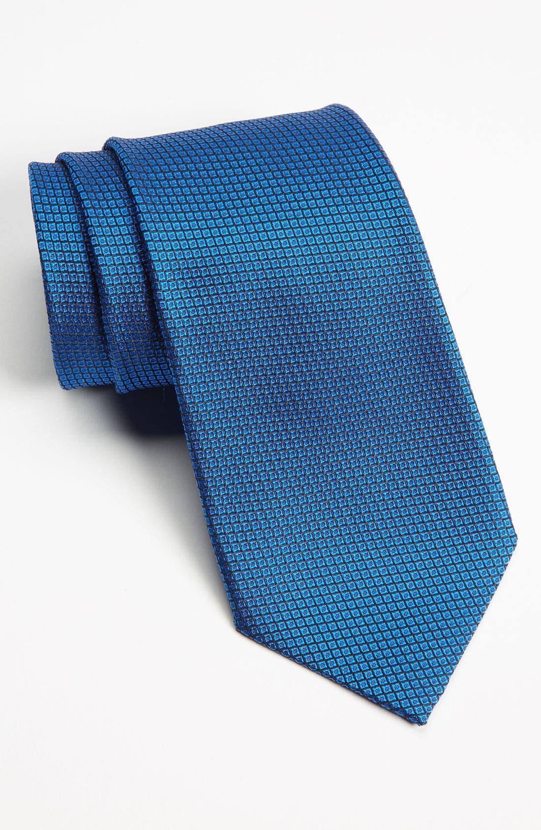 Main Image - Z Zegna Bird's Eye Silk Woven Tie