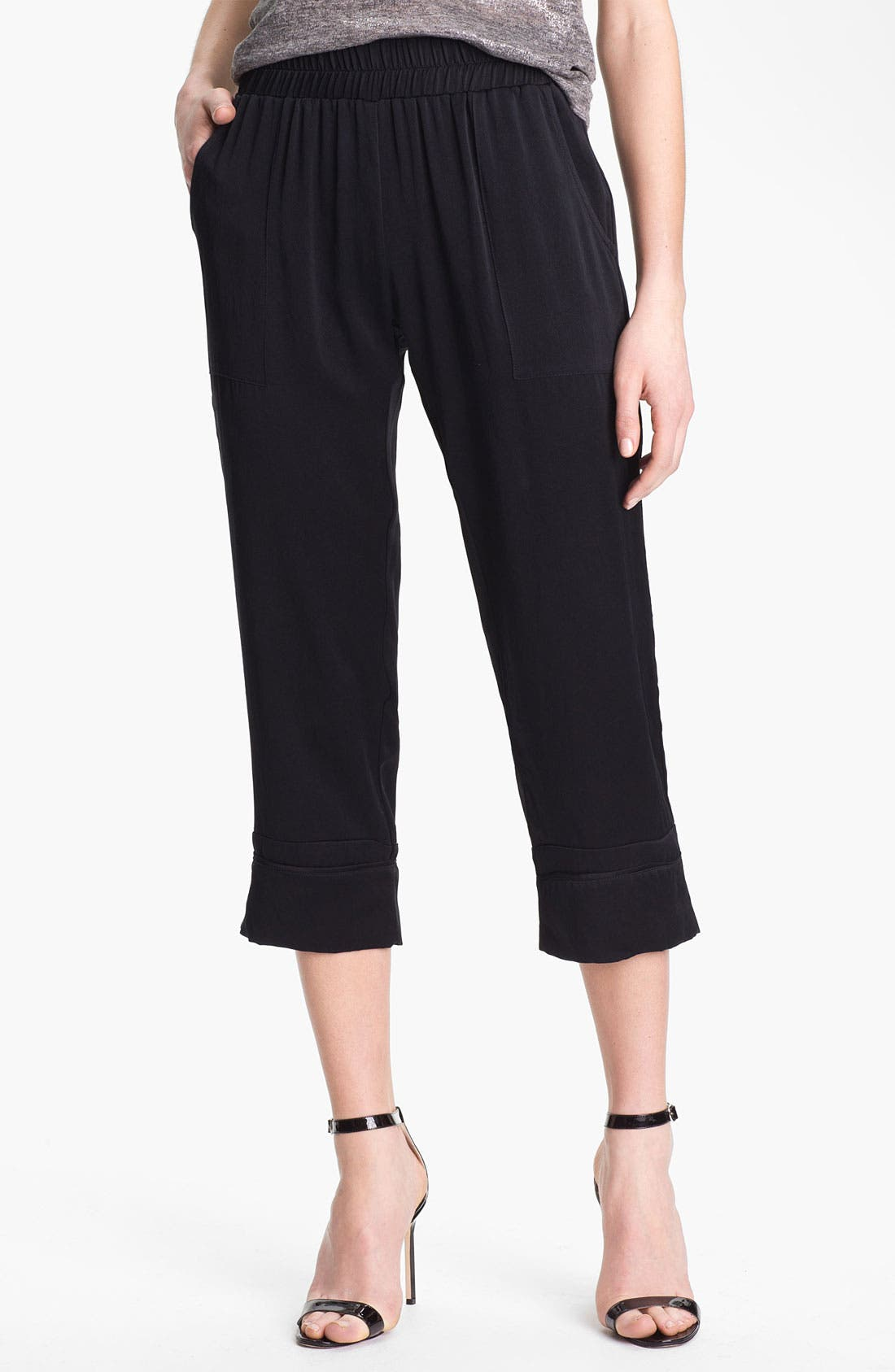 Alternate Image 1 Selected - Man Repeller X PJK 'Rani' Silk Lounge Pants