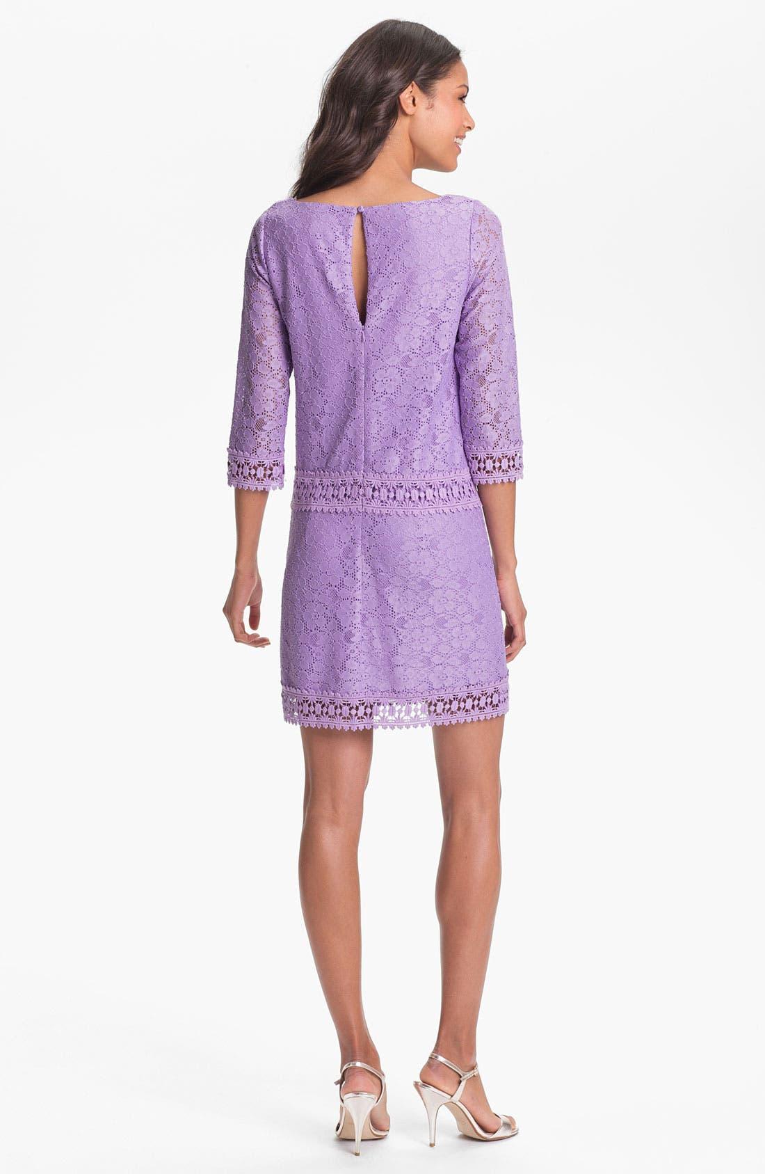 Alternate Image 2  - Laundry by Shelli Segal Lace Shift Dress