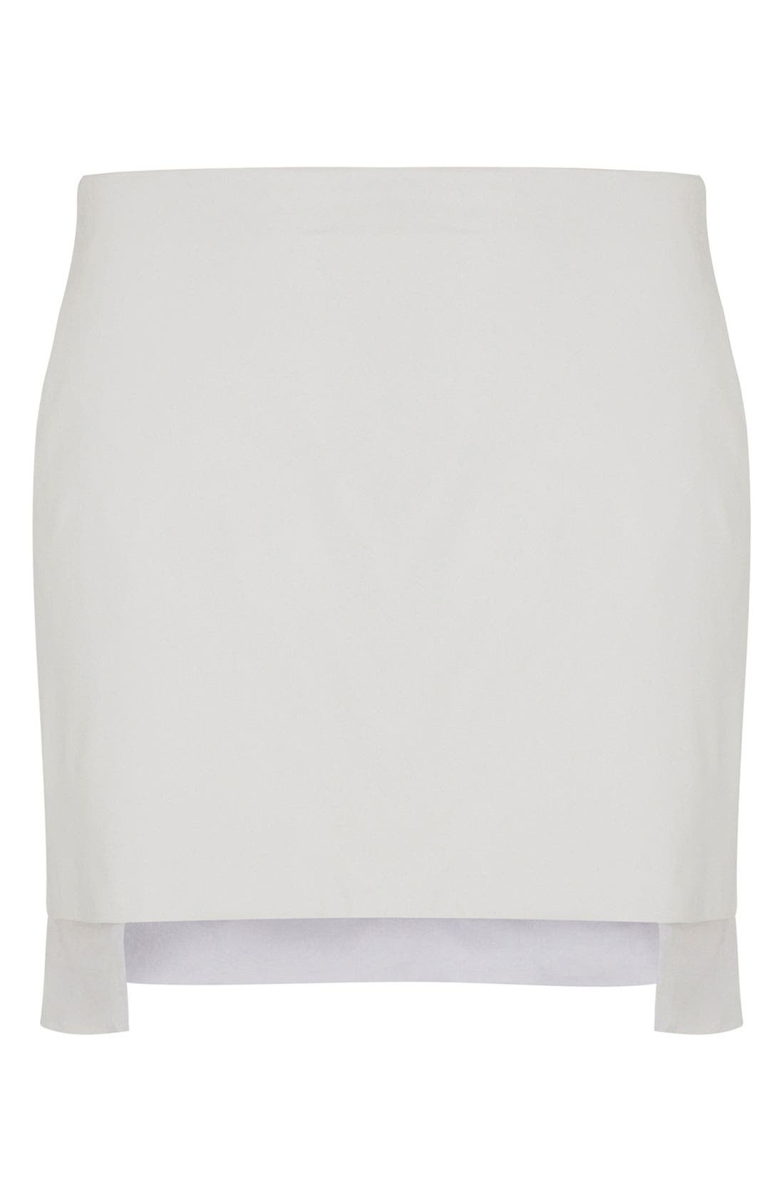 Main Image - Topshop Unique Leather Skirt