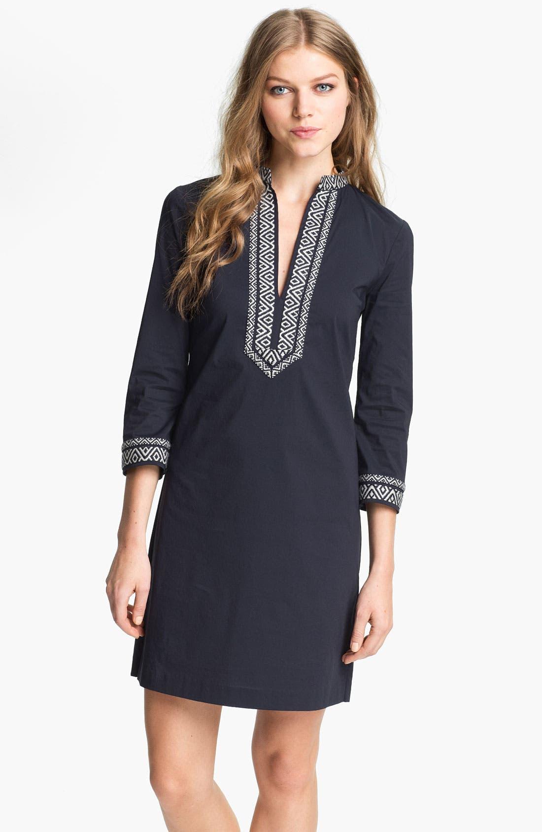 Alternate Image 1 Selected - Tory Burch Poplin Shift Dress