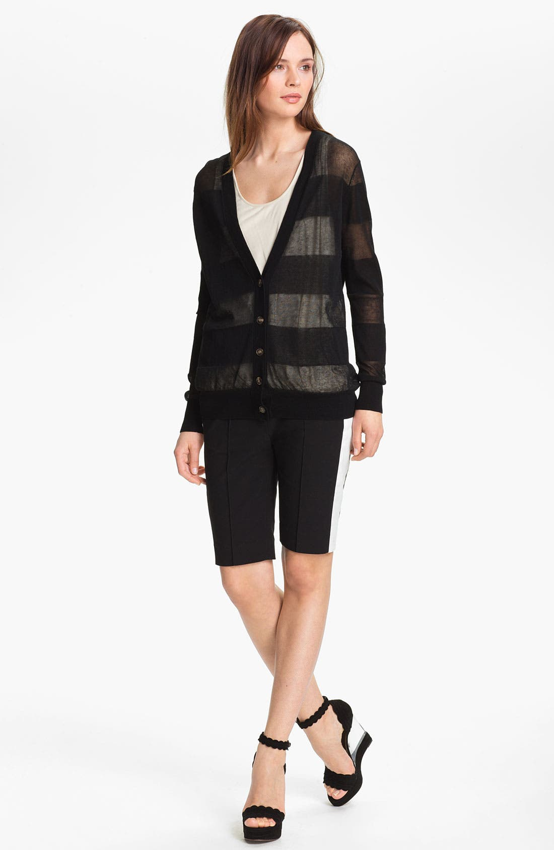 Alternate Image 6  - Halston Heritage Sheer Cardigan