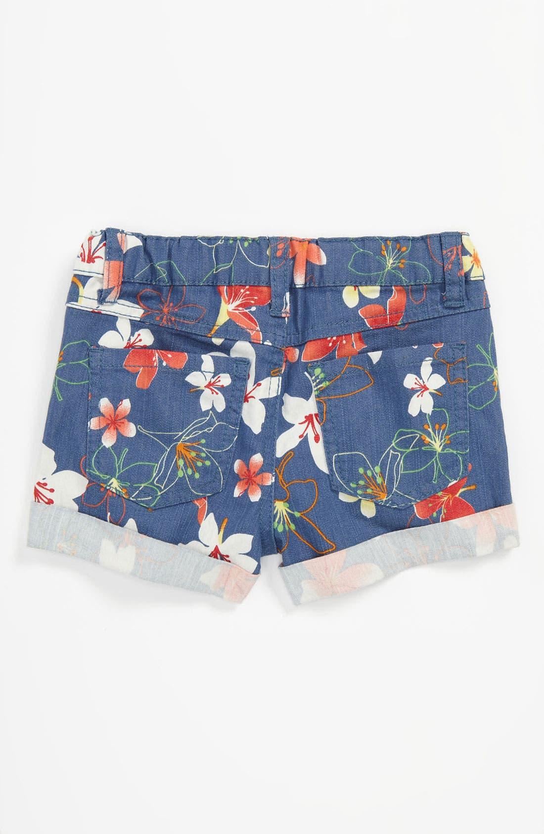 Alternate Image 1 Selected - Pumpkin Patch Floral Print Shorts (Toddler)