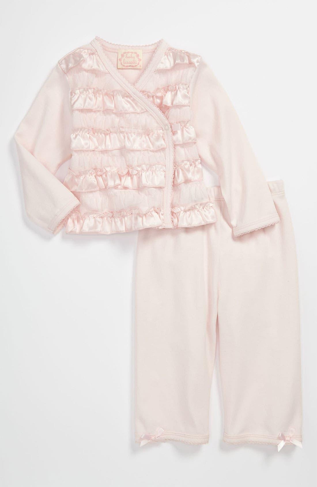 Main Image - Biscotti Ruffle Top & Pants (Baby)