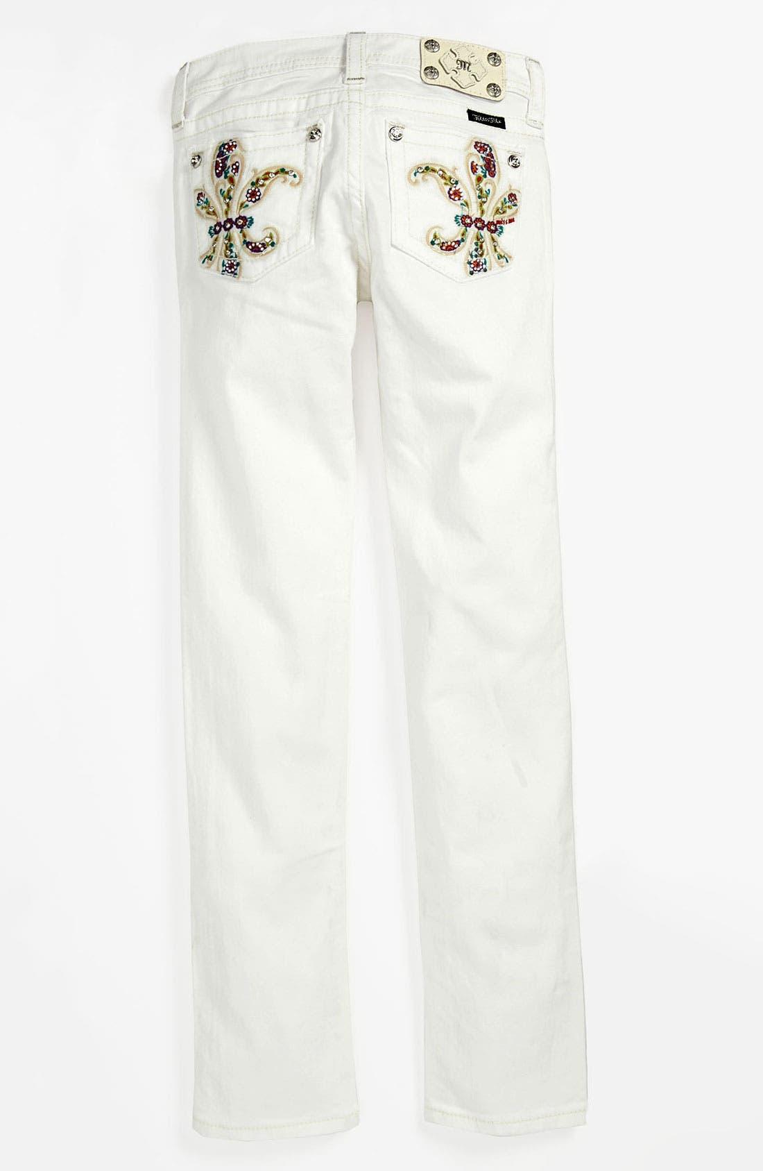 Alternate Image 1 Selected - Miss Me Skinny Leg Jeans (Big Girls)
