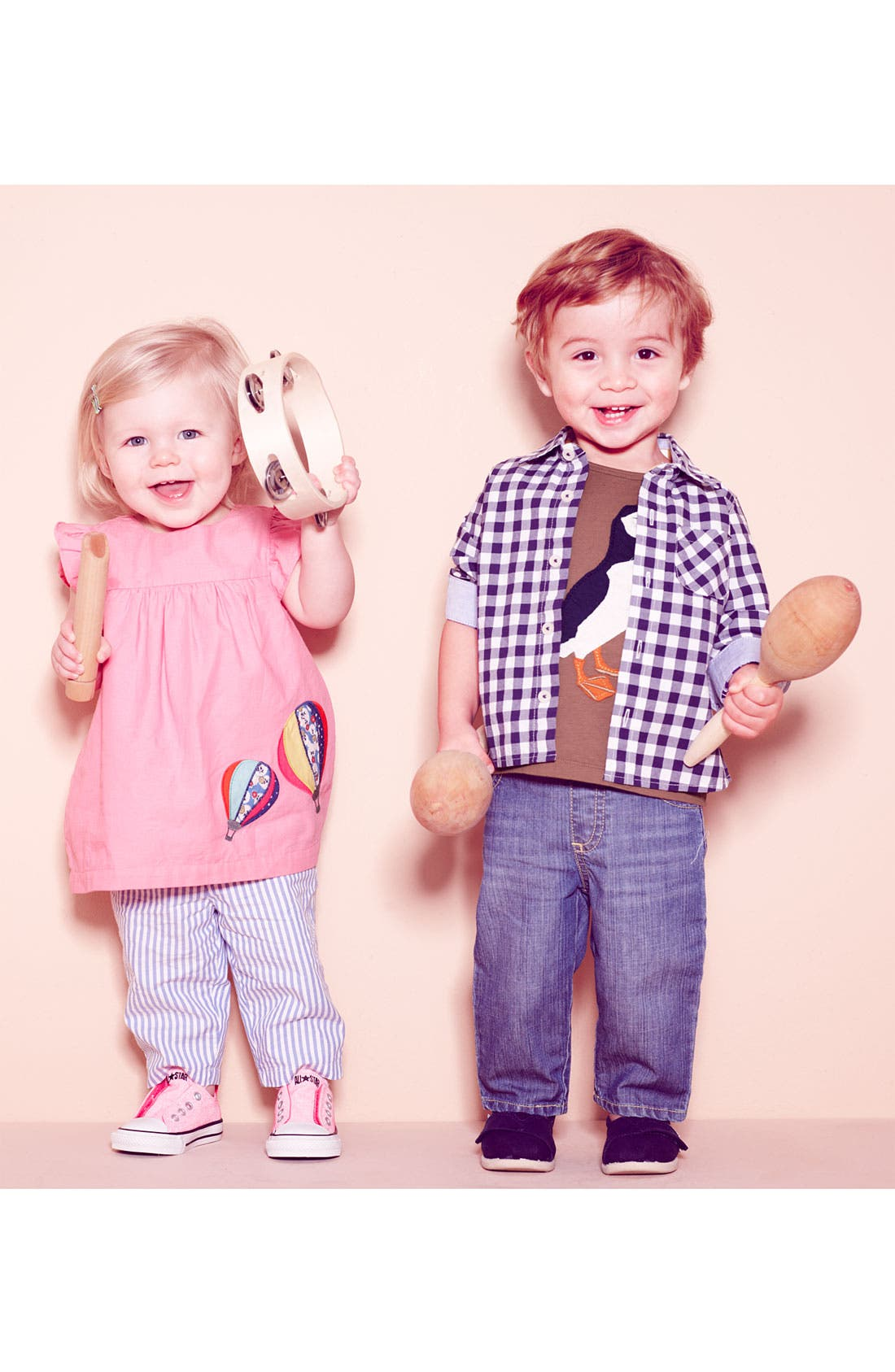 Alternate Image 2  - Mini Boden Appliqué Dress & Leggings (Baby Girls)