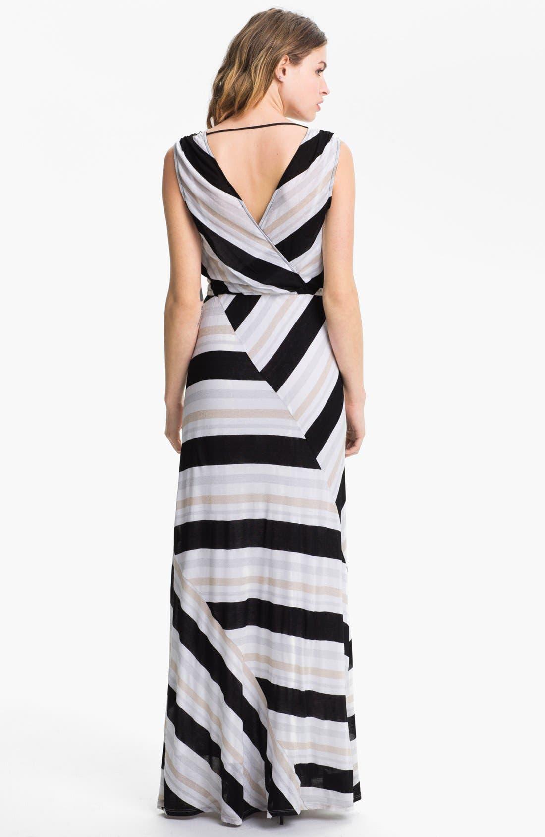 Alternate Image 2  - Ella Moss Stripe Surplice Maxi Dress