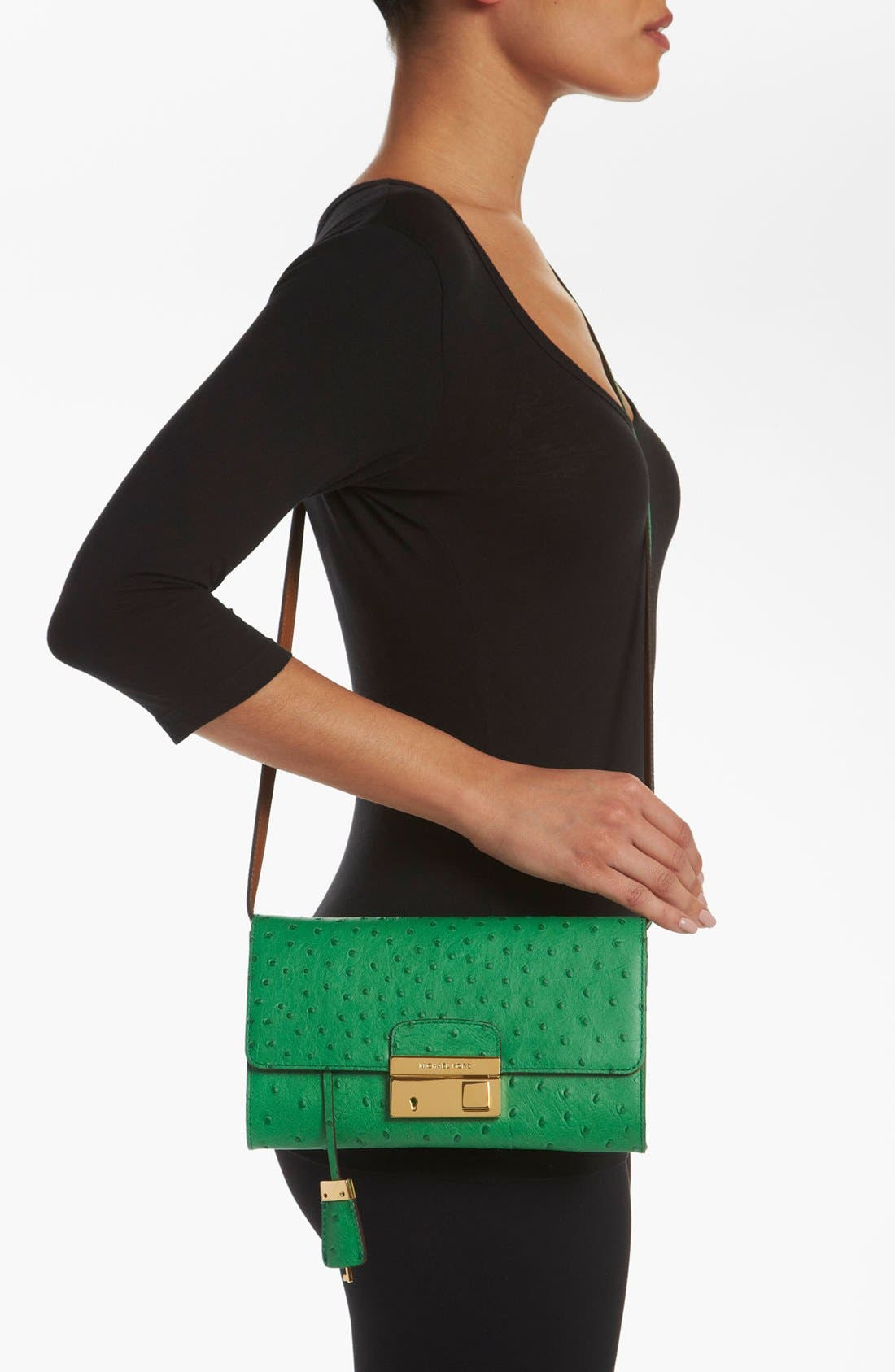 Alternate Image 2  - Michael Kors 'Gia' Ostrich Embossed Clutch