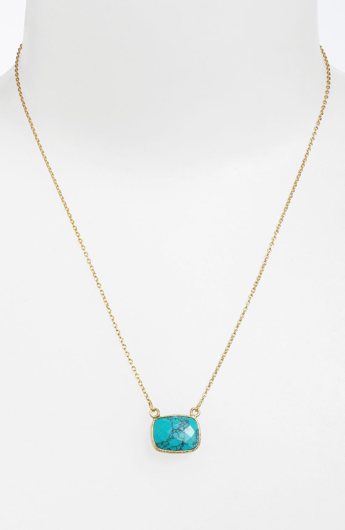 Main Image - Argento Vivo 'Bauble Bar' Stone Pendant Necklace (Nordstrom Exclusive)