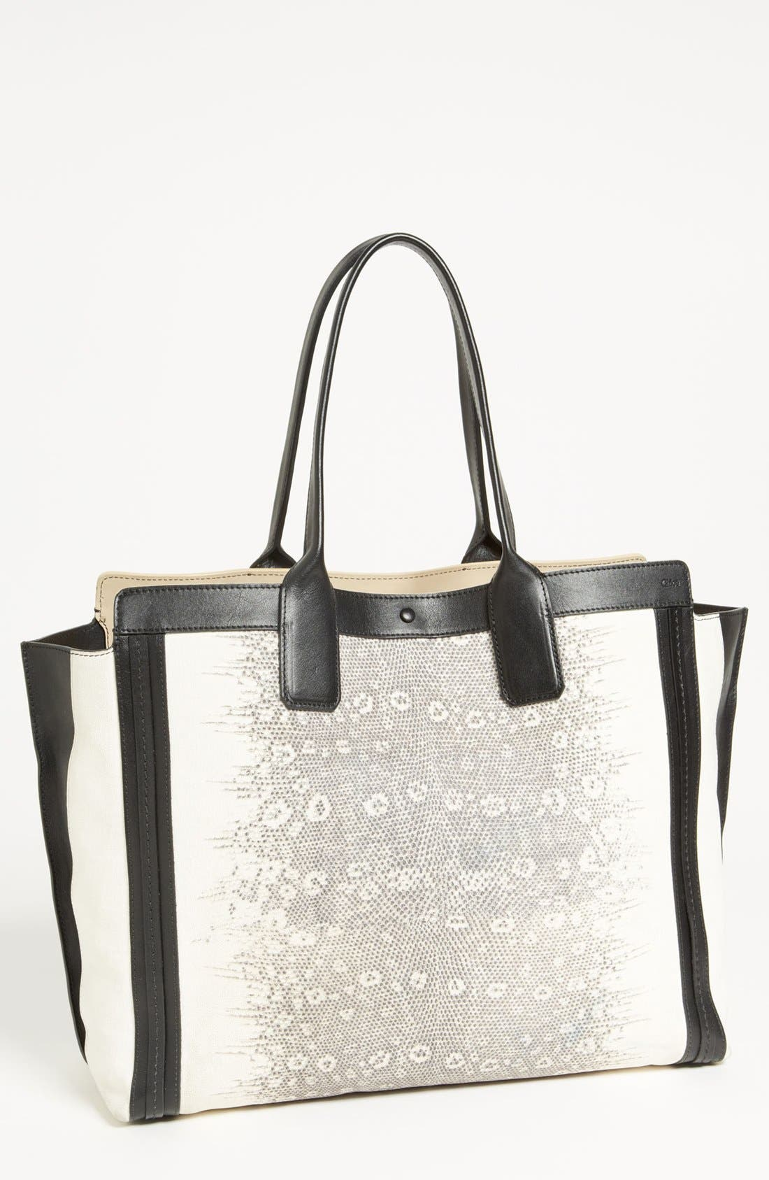 Alternate Image 1 Selected - Chloé 'Alison - Lizard' Printed Leather Tote
