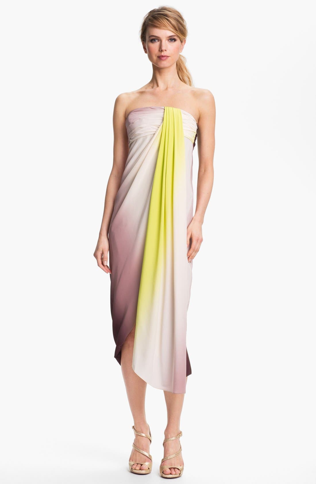 Alternate Image 1 Selected - Diane von Furstenberg 'Sierra' Draped Silk Midi Dress