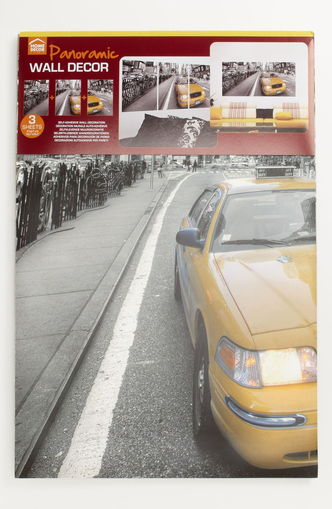 Alternate Image 2  - Wallpops Triptych Taxi Wall Art