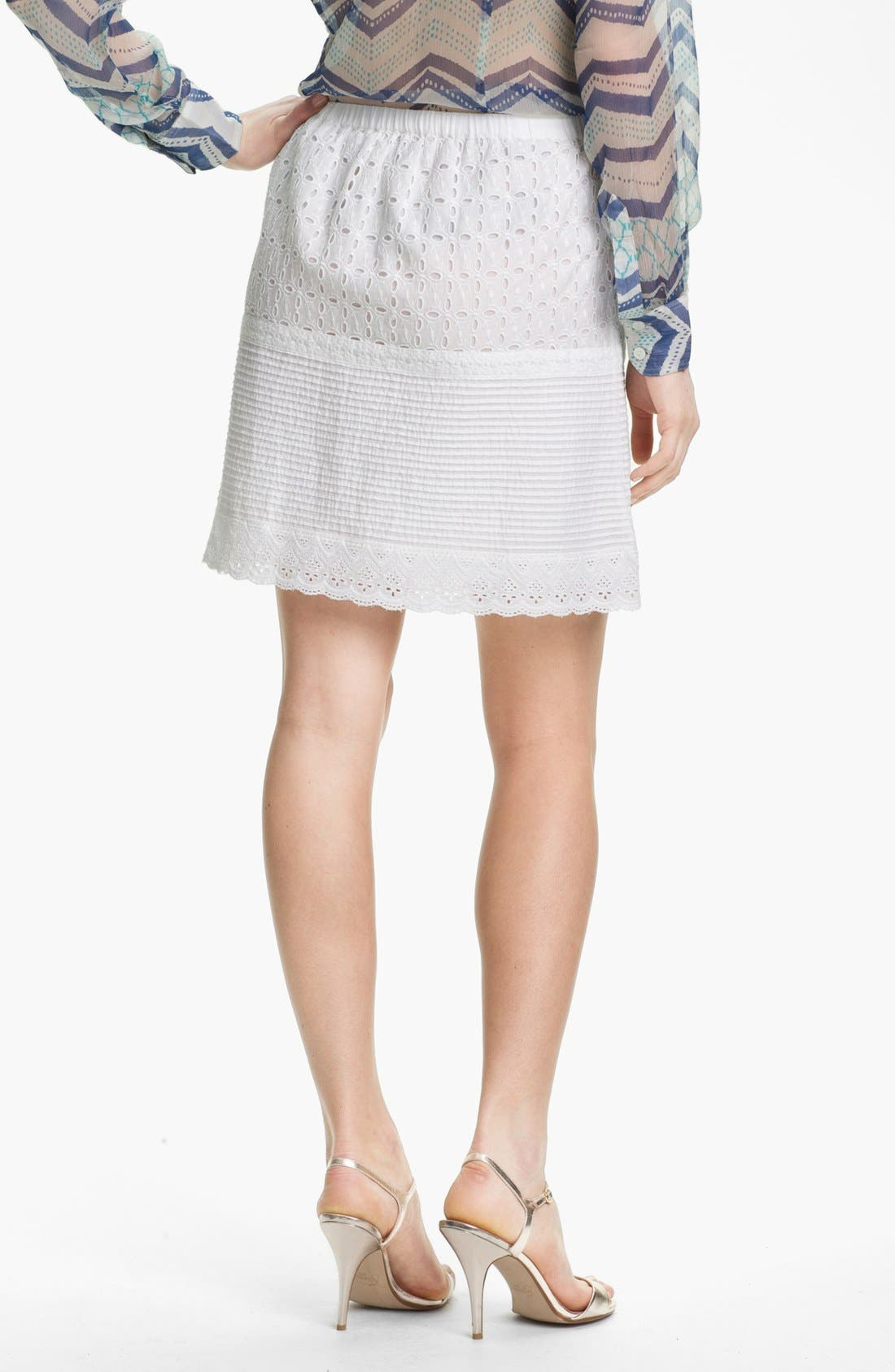 Alternate Image 2  - Lucky Brand 'Prarie' Tiered Eyelet Skirt