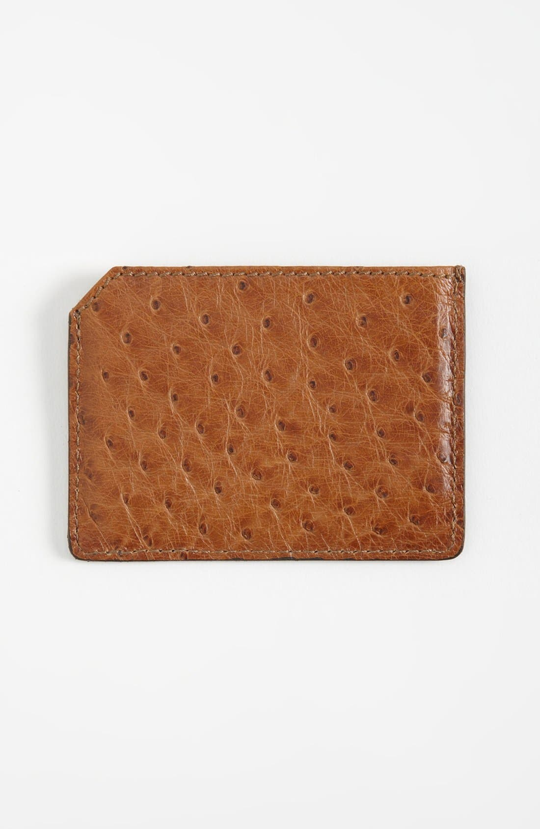 Alternate Image 2  - Burberry Ostrich Leather Card Case