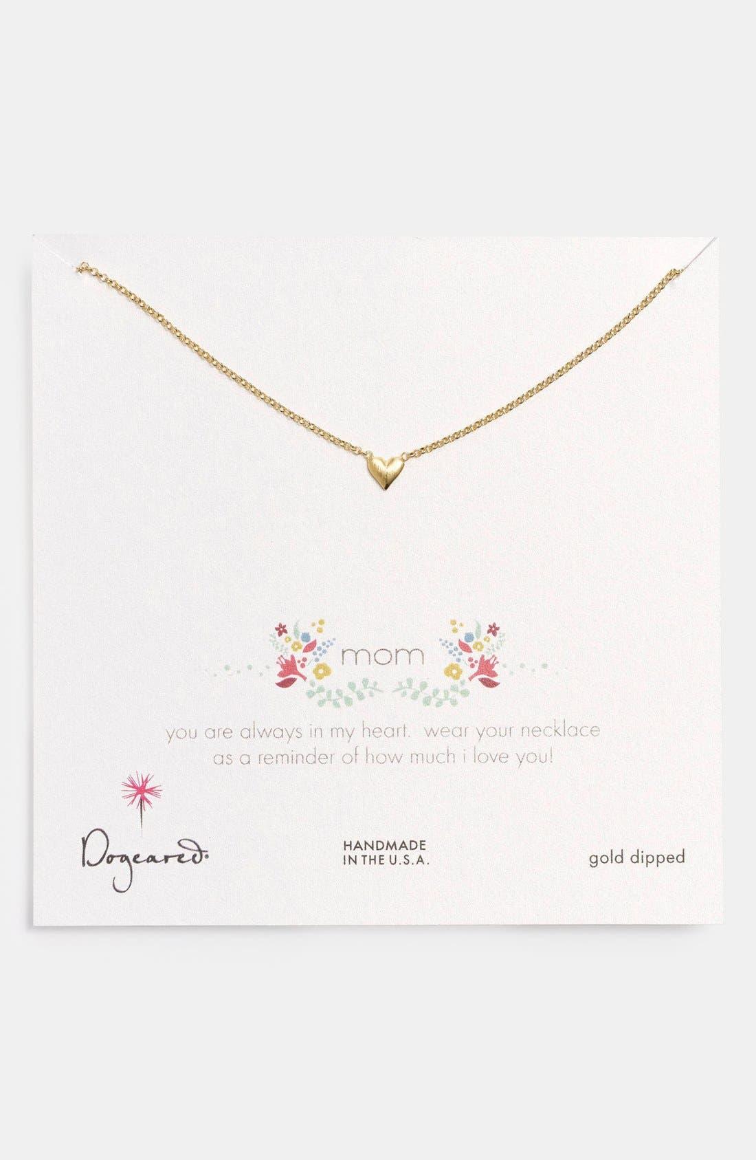 Alternate Image 1 Selected - Dogeared 'Reminder - Mom' Pendant Necklace