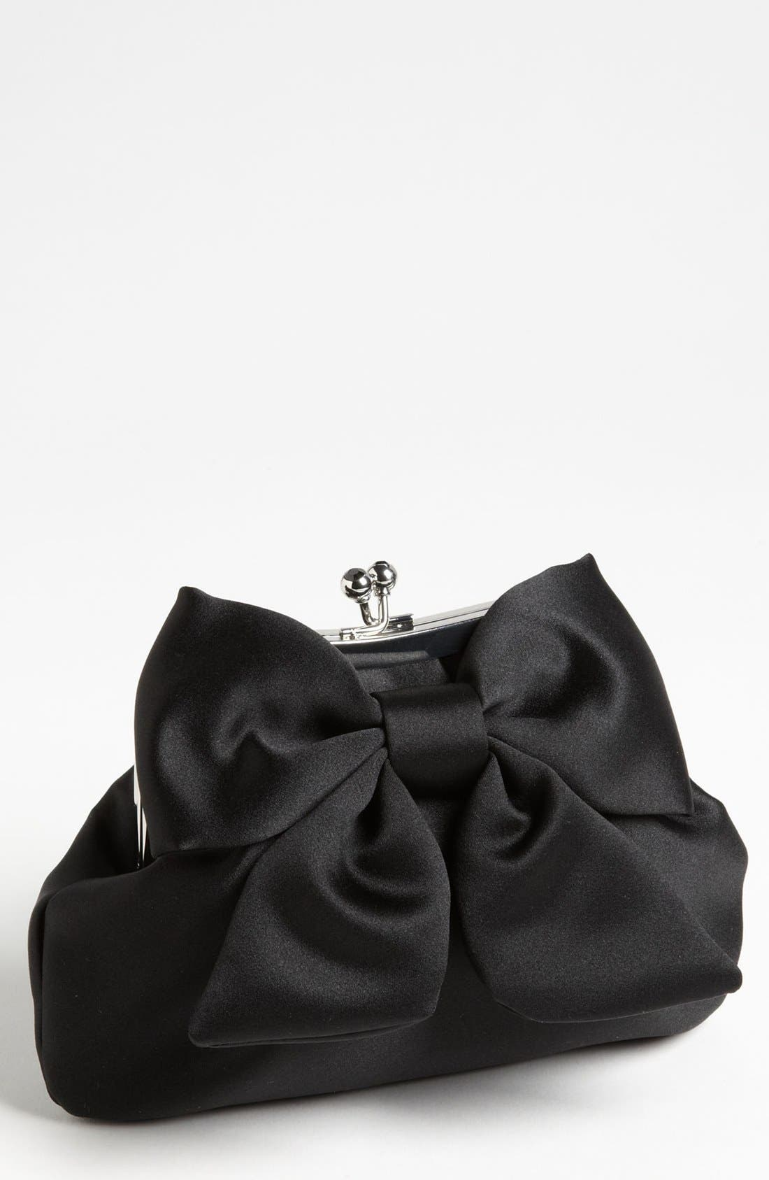 Main Image - Sondra Roberts 'Large' Satin Bow Clutch
