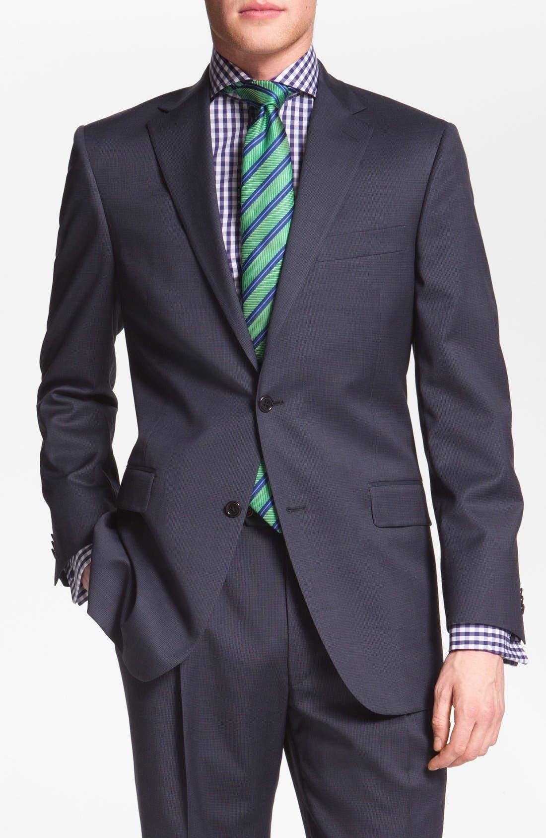 Alternate Image 1 Selected - Hart Schaffner Marx Worsted Wool Suit