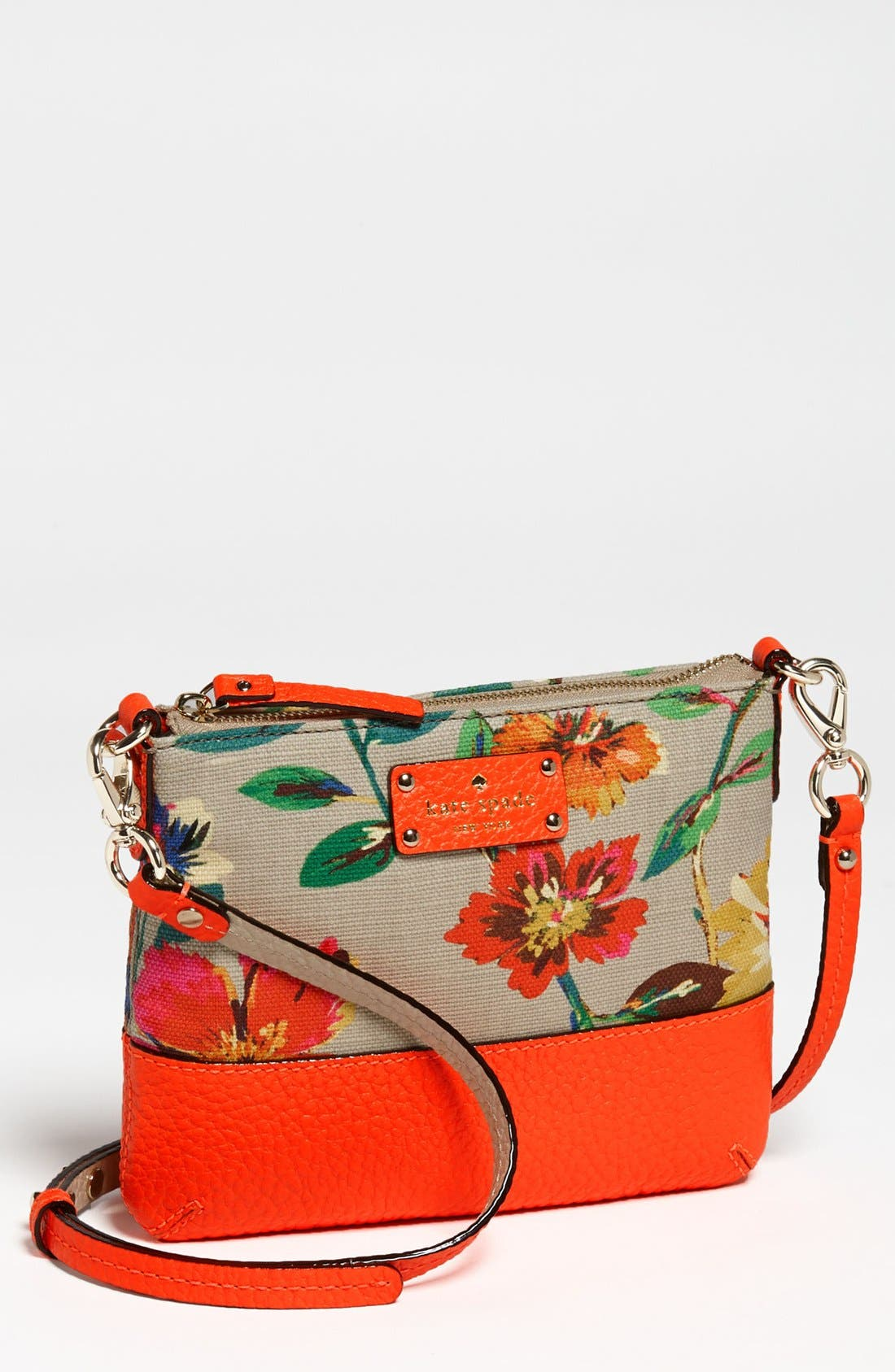 Main Image - kate spade new york 'grove court floral - tenley' crossbody bag