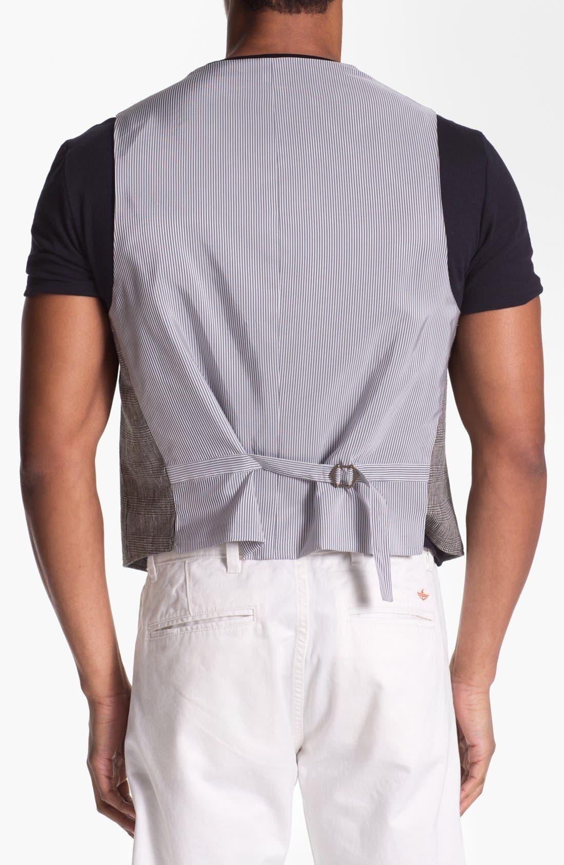 Alternate Image 2  - John Varvatos Star USA Red Label Glen Plaid Vest