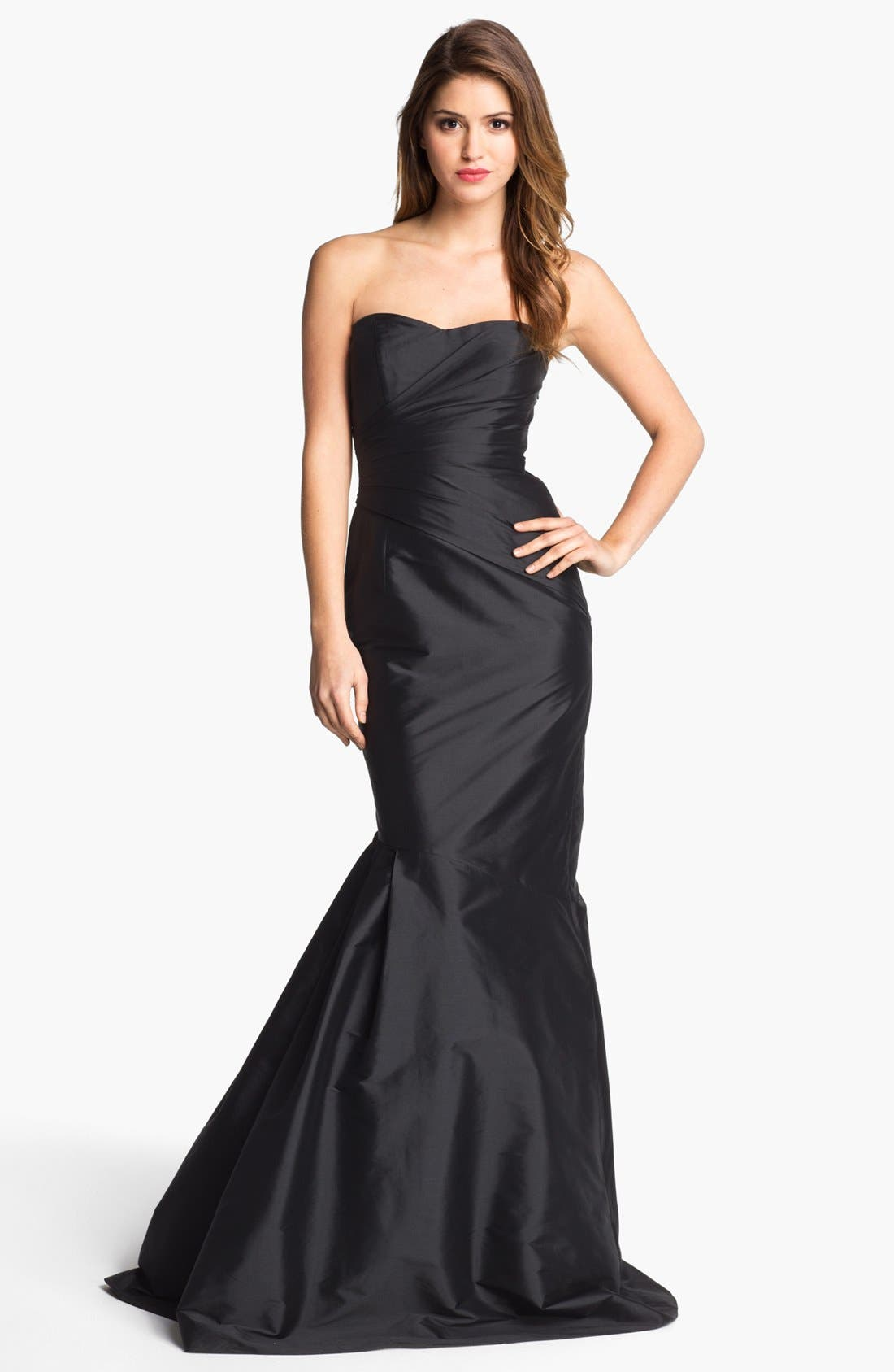 Alternate Image 1 Selected - ML Monique Lhuillier Strapless Trumpet Gown