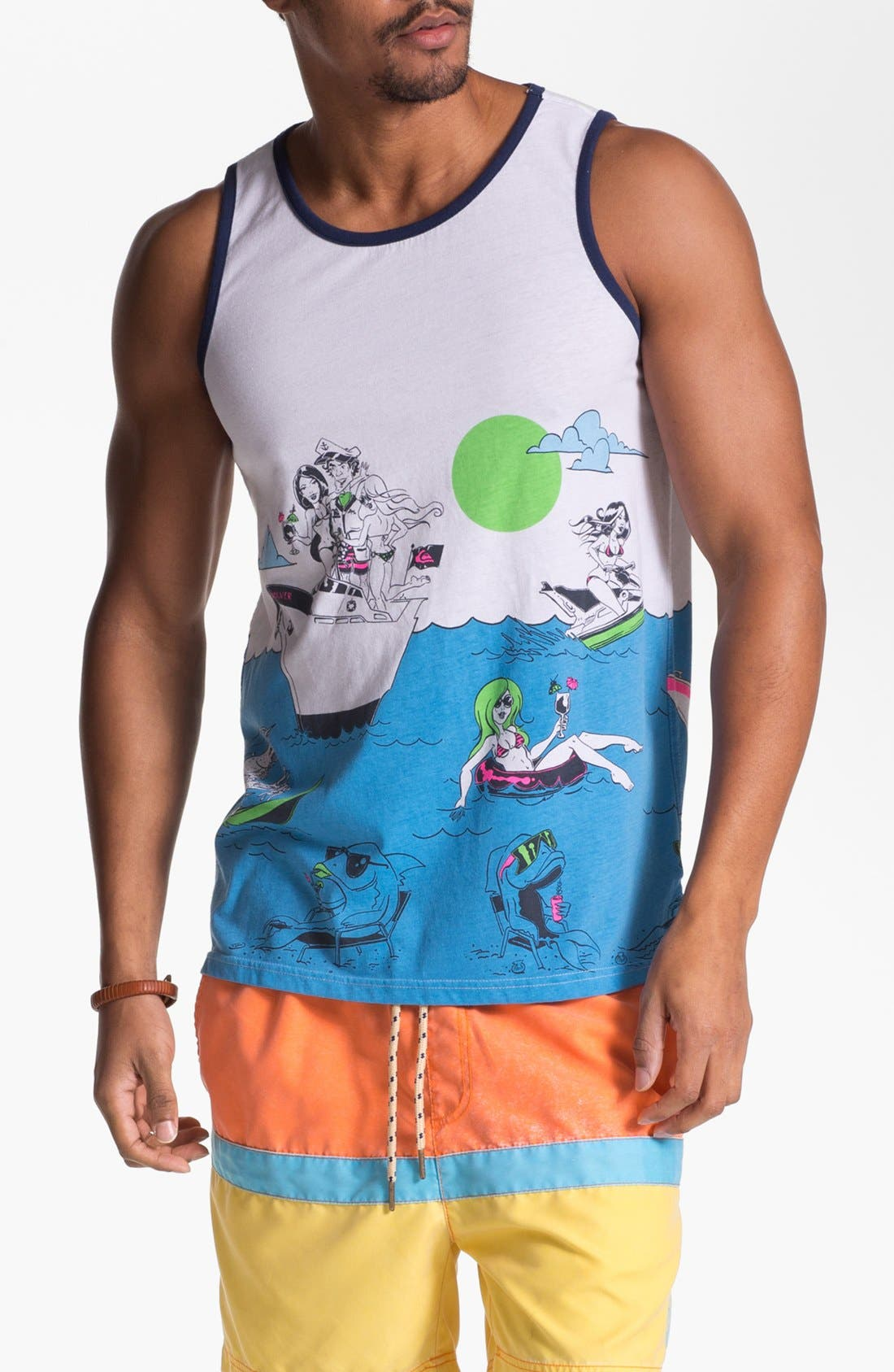 Alternate Image 1 Selected - Quiksilver 'Sinking Teeth' Graphic Tank Top