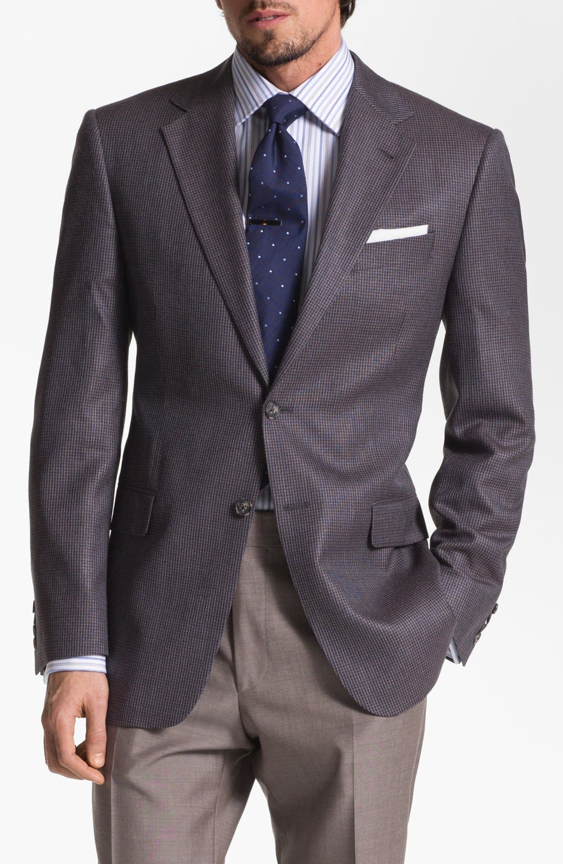 Alternate Image 1 Selected - Joseph Abboud 'Signature Silver' Houndstooth Sportcoat
