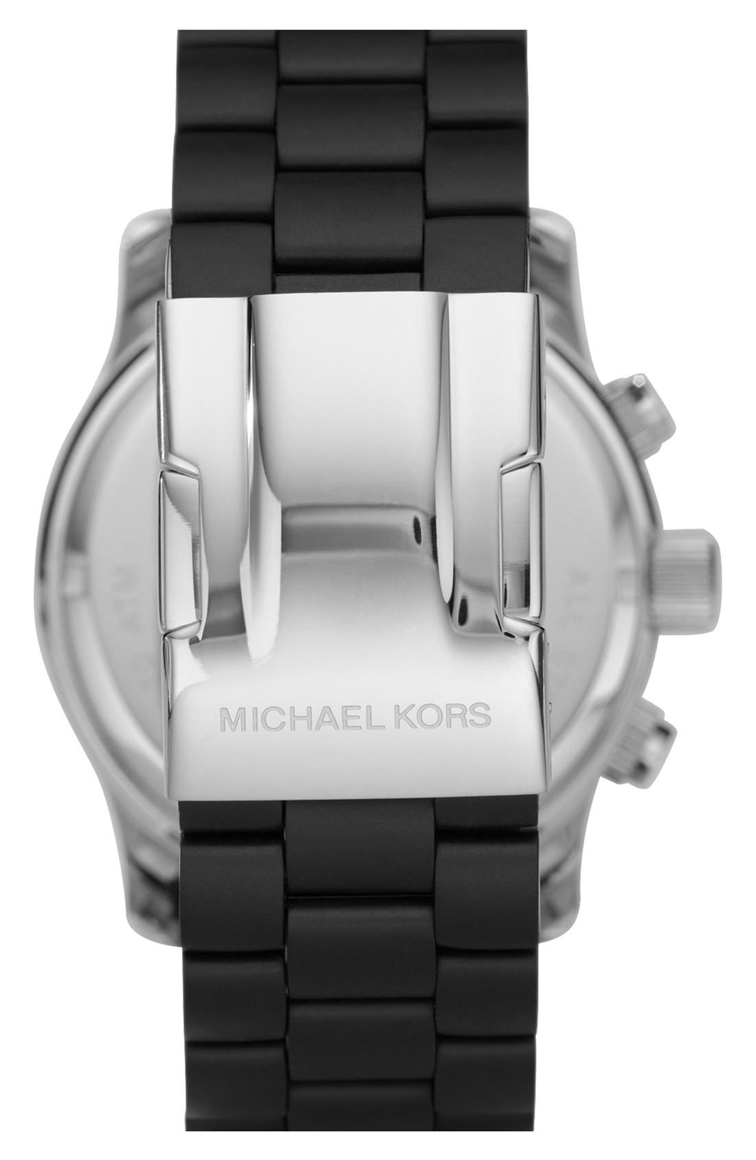 Alternate Image 2  - Michael Kors 'Large Runway Silicone Wrap' Watch, 46mm
