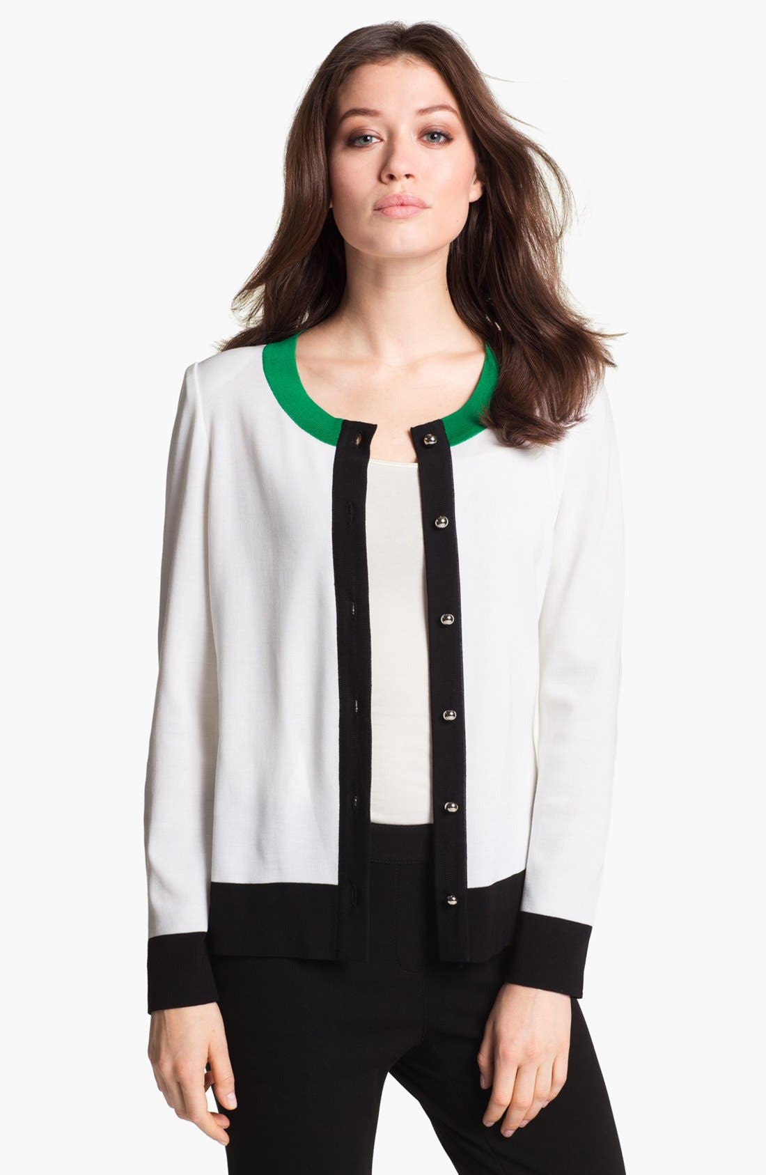 Alternate Image 1 Selected - Misook 'Jennifer' Cardigan (Petite) (Online Only)