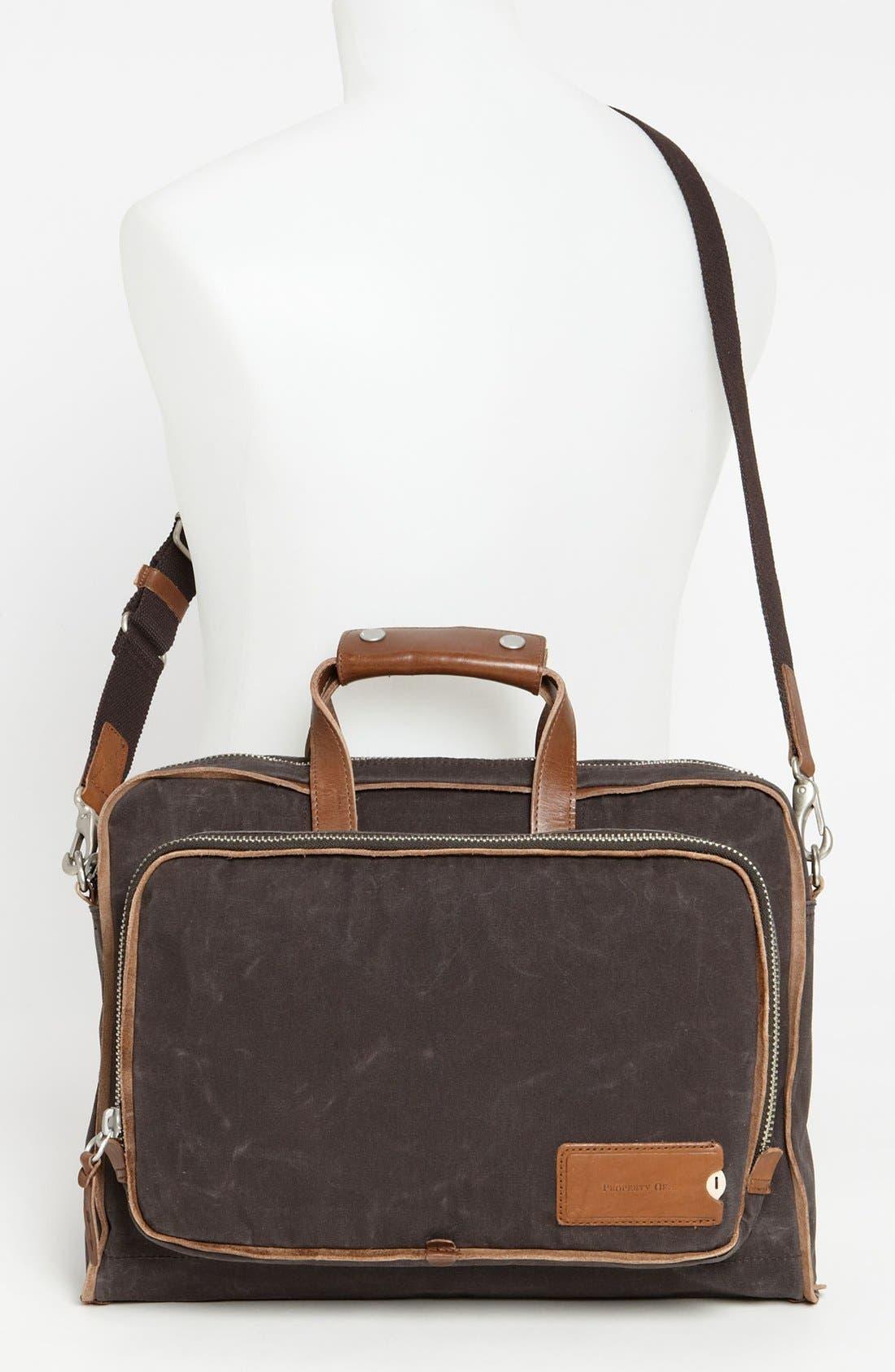 Alternate Image 4  - Property Of… 'Arnald' Canvas Briefcase