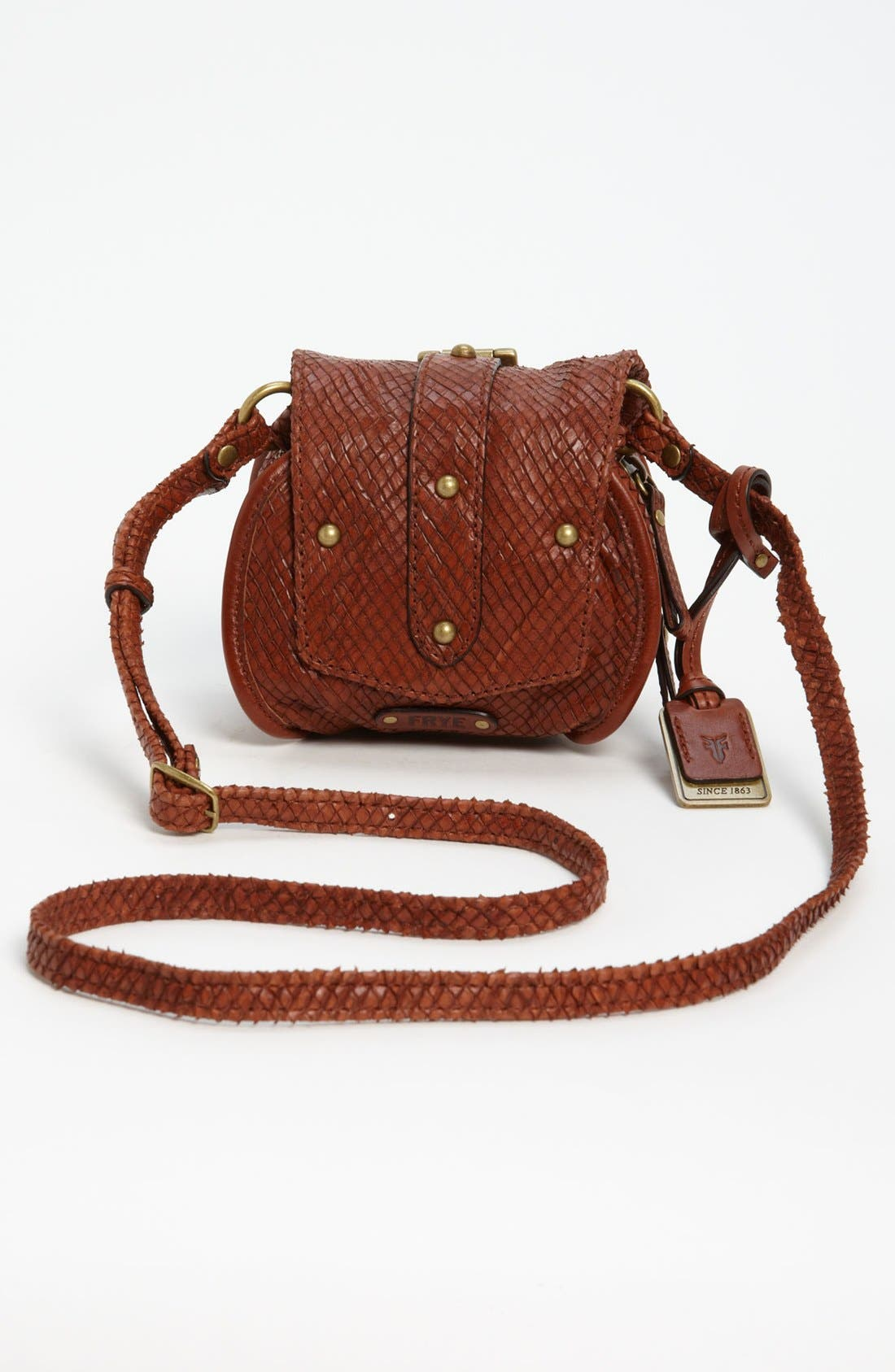 Alternate Image 4  - Frye Snake Texture Crossbody Bag