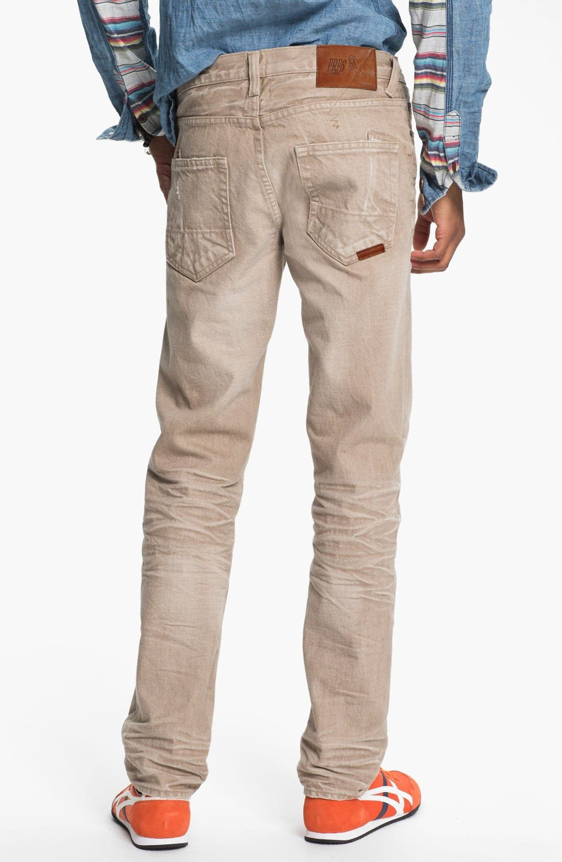Alternate Image 1 Selected - PRPS 'Vesta Rambler' Slim Fit Jeans (Beige)