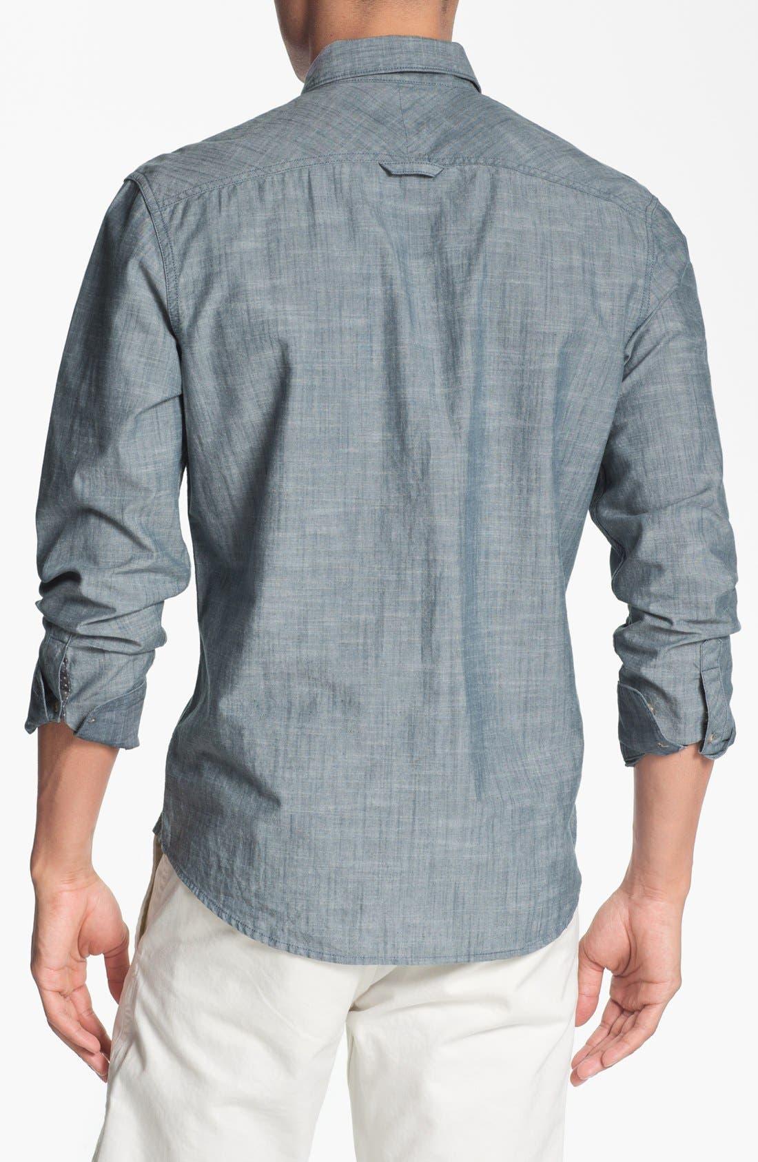 Alternate Image 2  - 1901 Regular Fit Chambray Sport Shirt