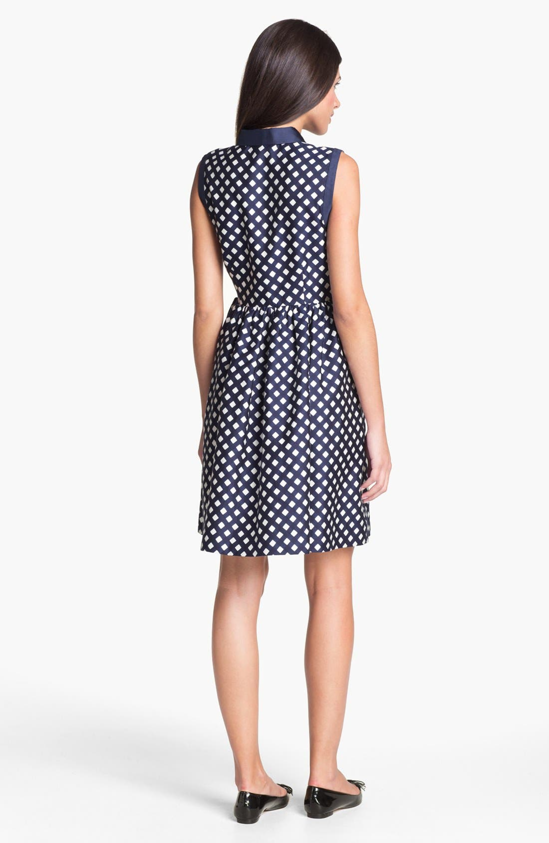 Alternate Image 2  - kate spade new york 'addison' cotton blend fit & flare dress